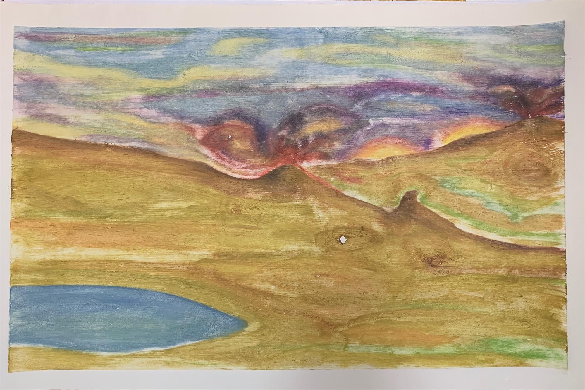 Untitled, abstract landscape by David Hefner