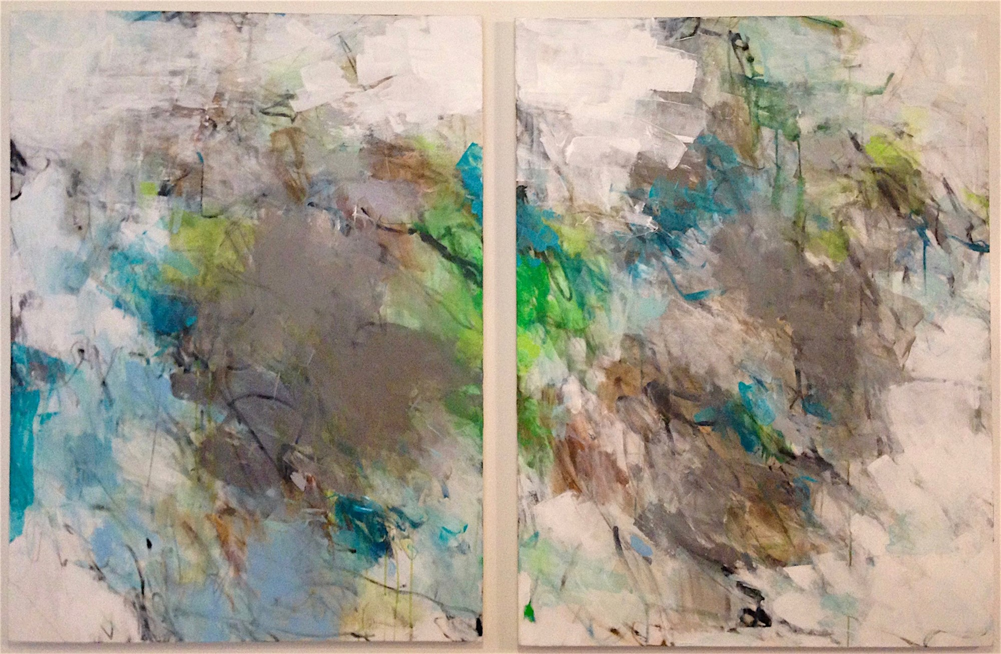 Drifting Clouds I and II by Charlotte Foust