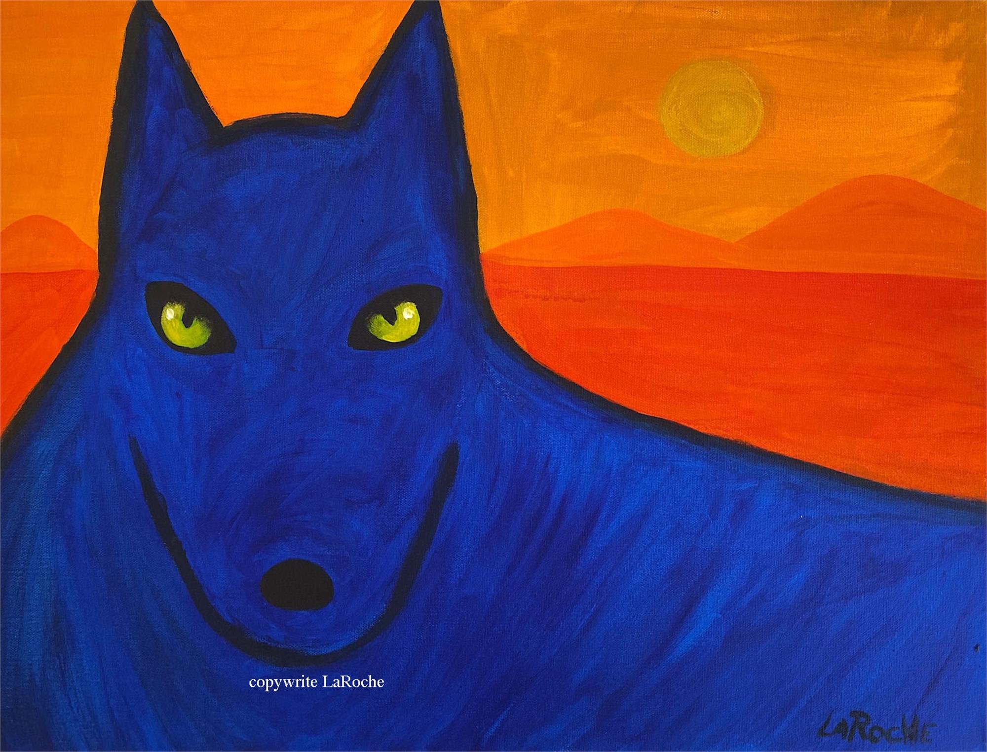 BLUE DESERT WOLF by Carole LaRoche