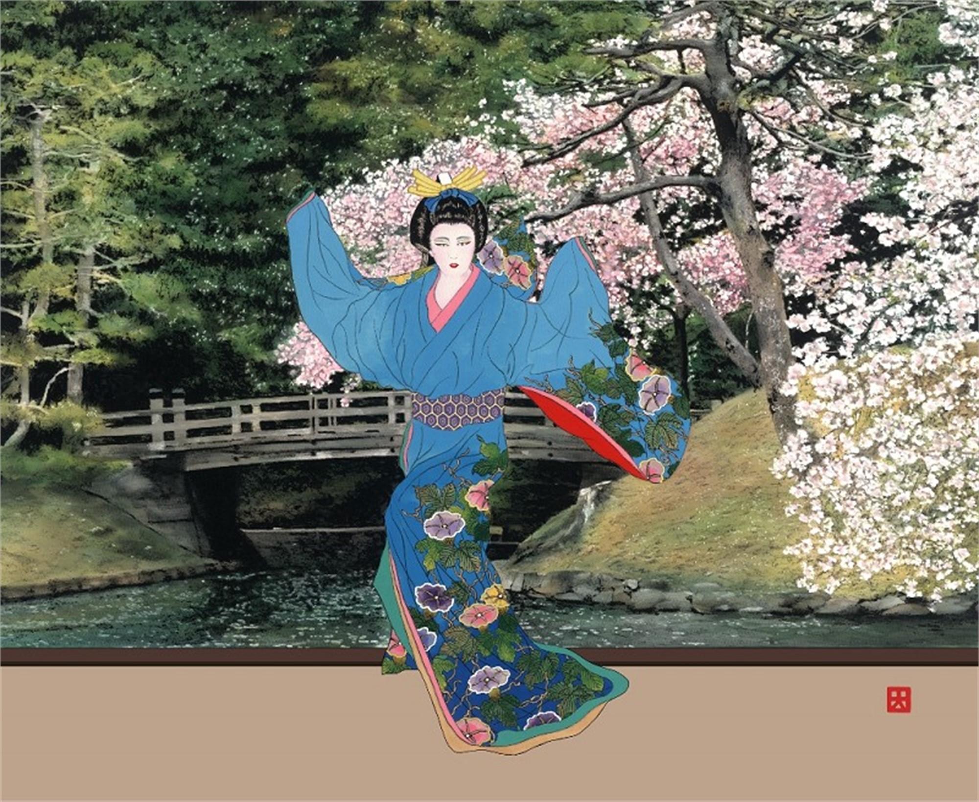 Hama Rikyu Naka no Hashi (Lady Mieko, Garden Suite) by Hisashi Otsuka