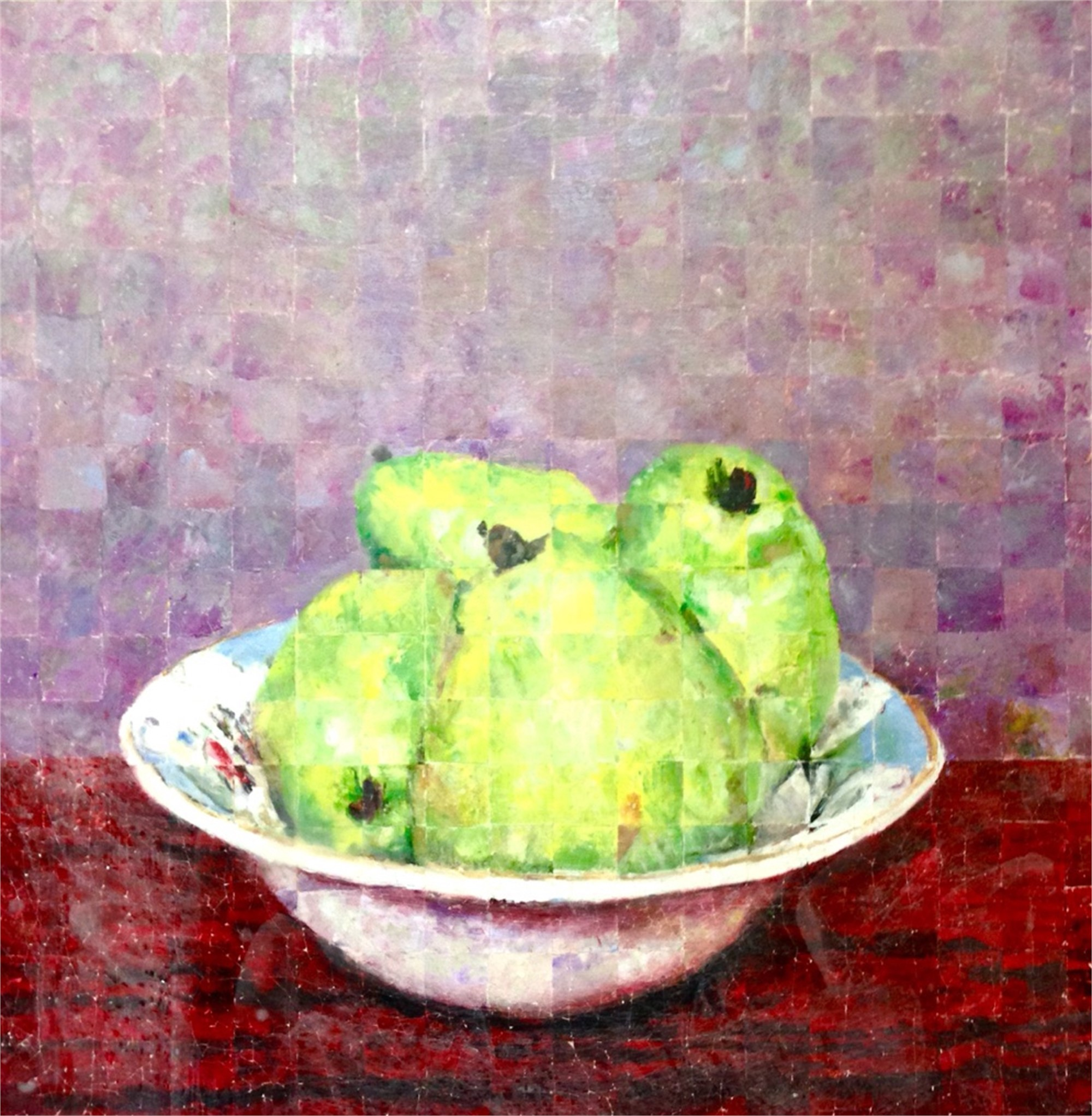 Pears In An Antique Bowl by Mark Gaskin