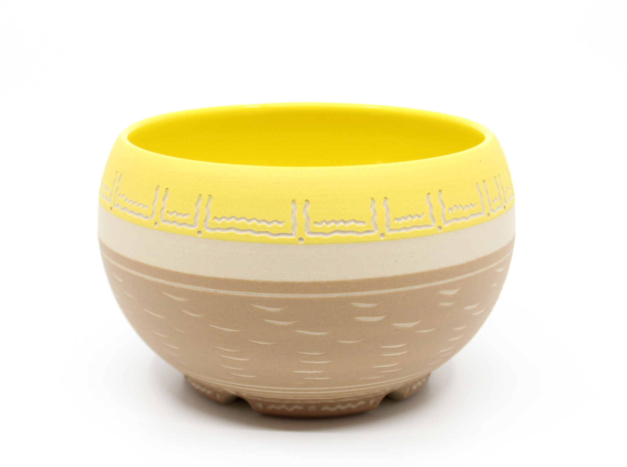 Cinnamon & Yellow Bowl by Chris Casey