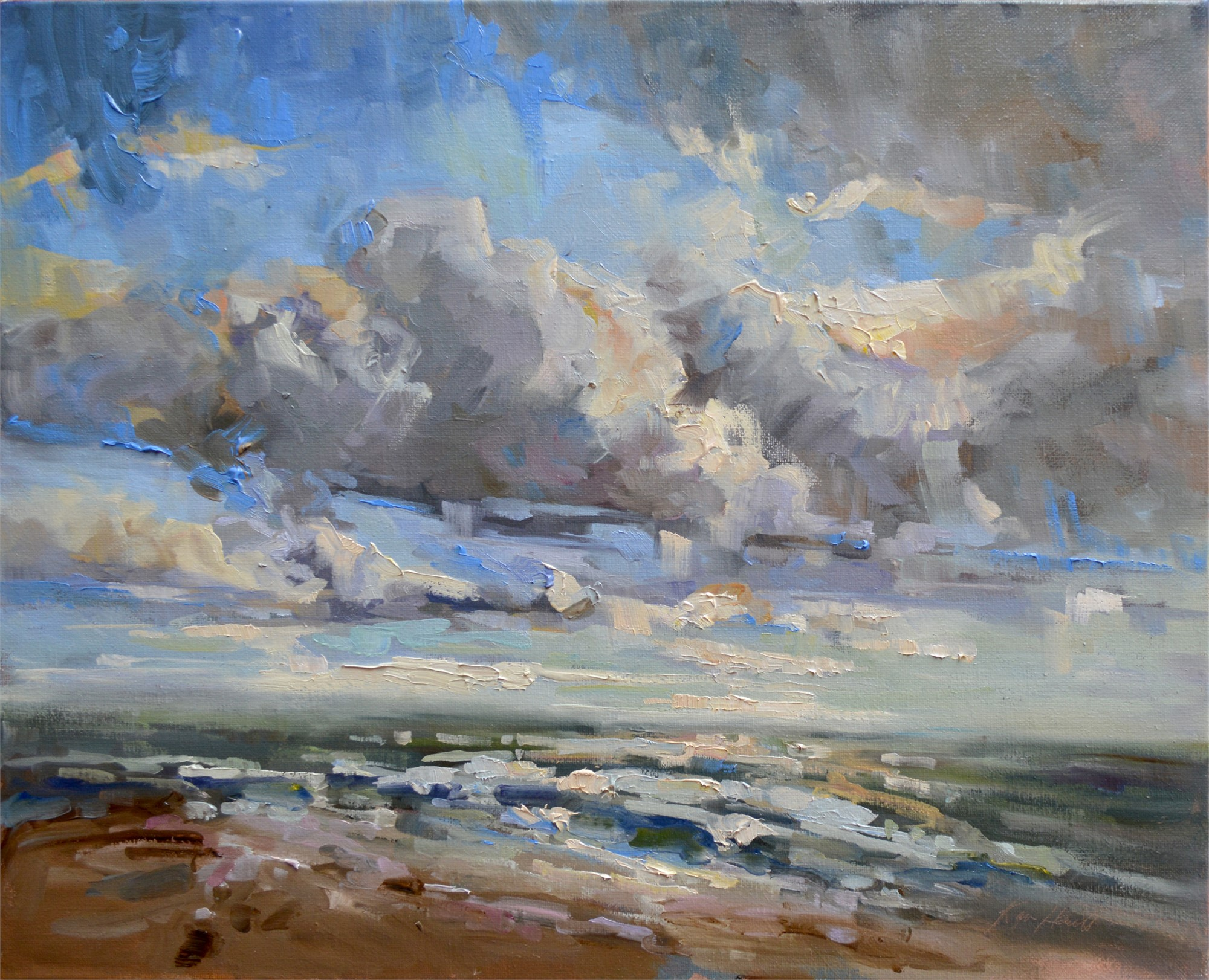 Big Sky at the Beach by Karen Hewitt Hagan