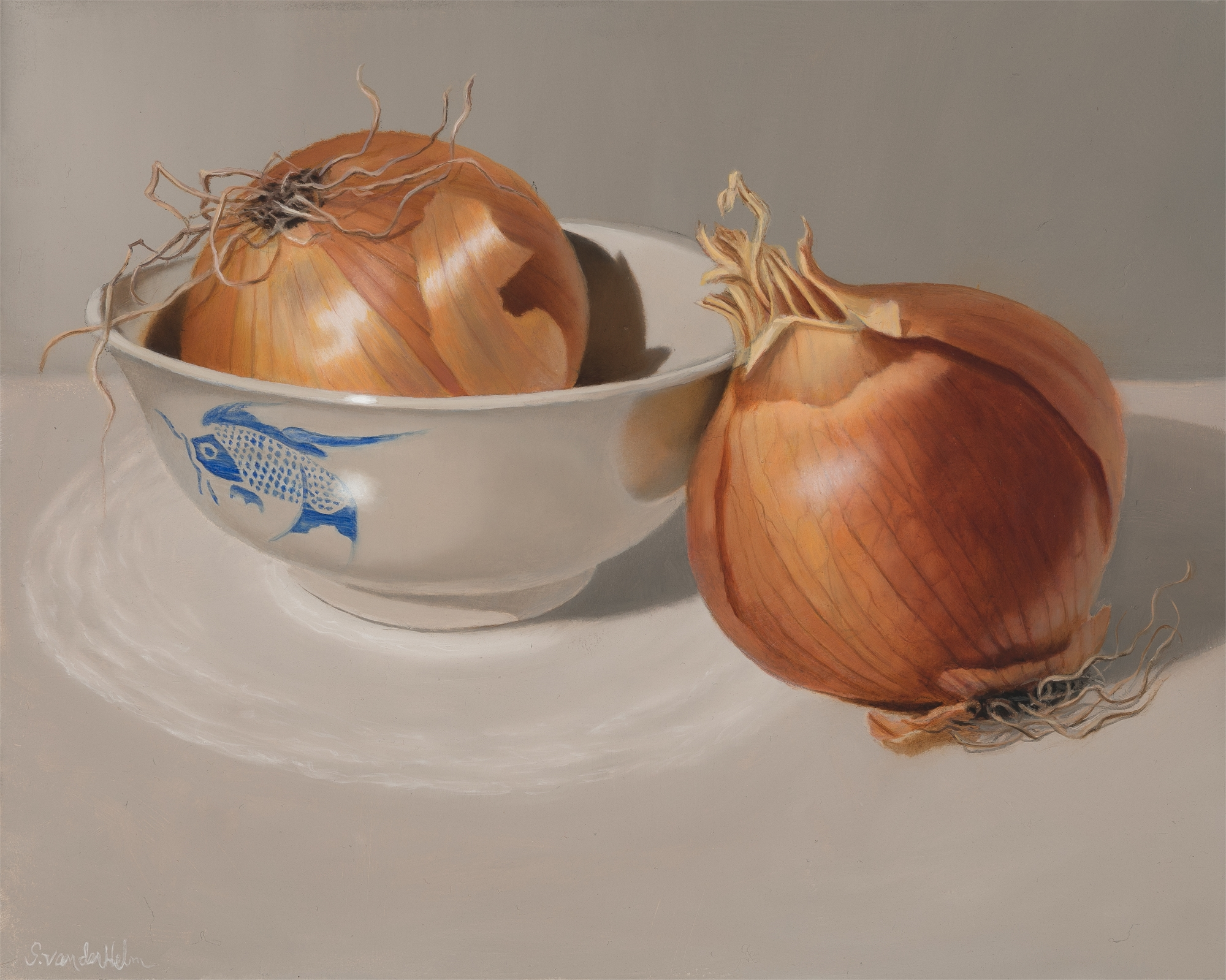 Two Yellow Onions by Sarah van der Helm