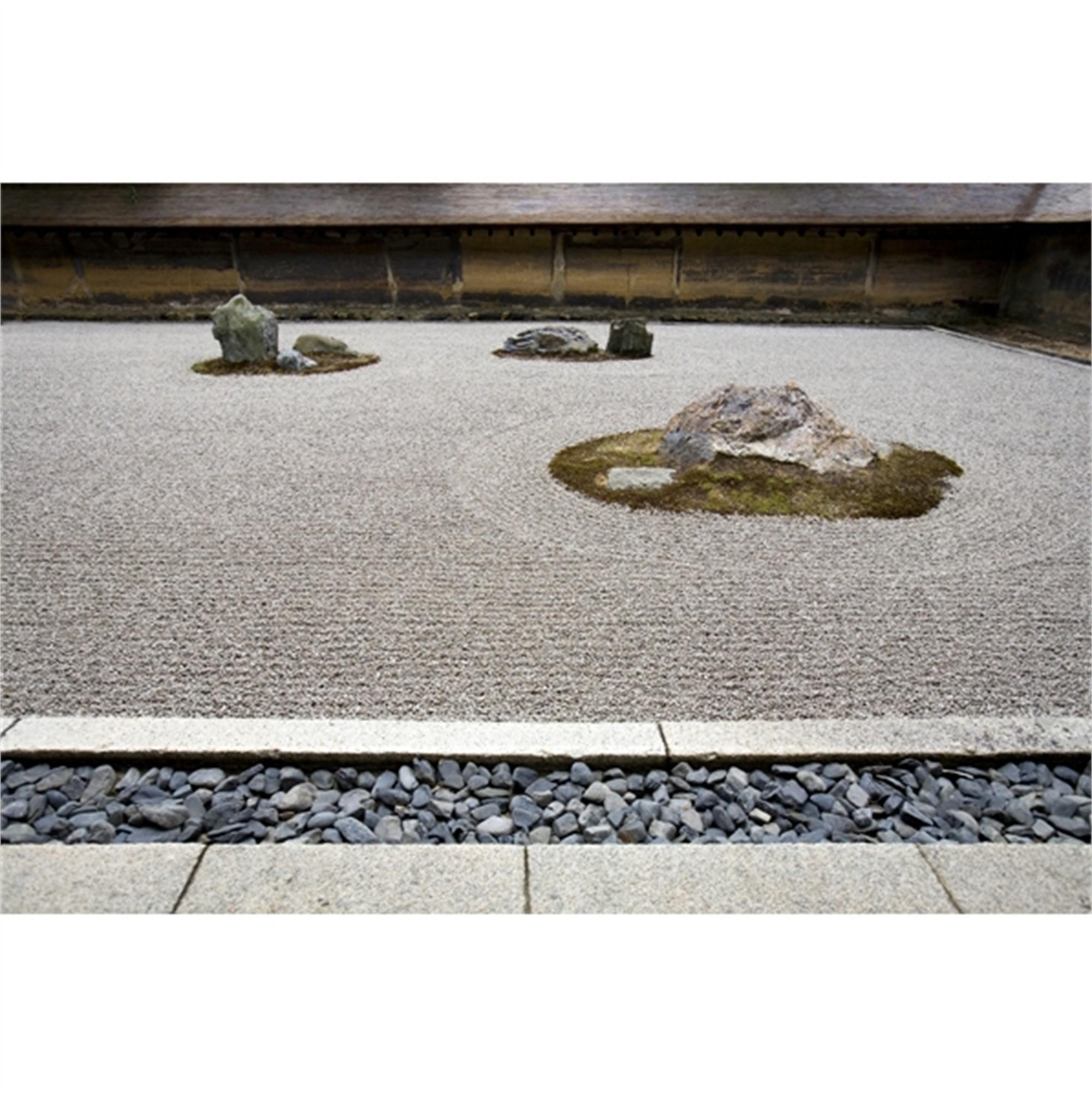 Zen Garden. Ryoan-ji Temple. Kyoto, Japan by Cora Edmonds