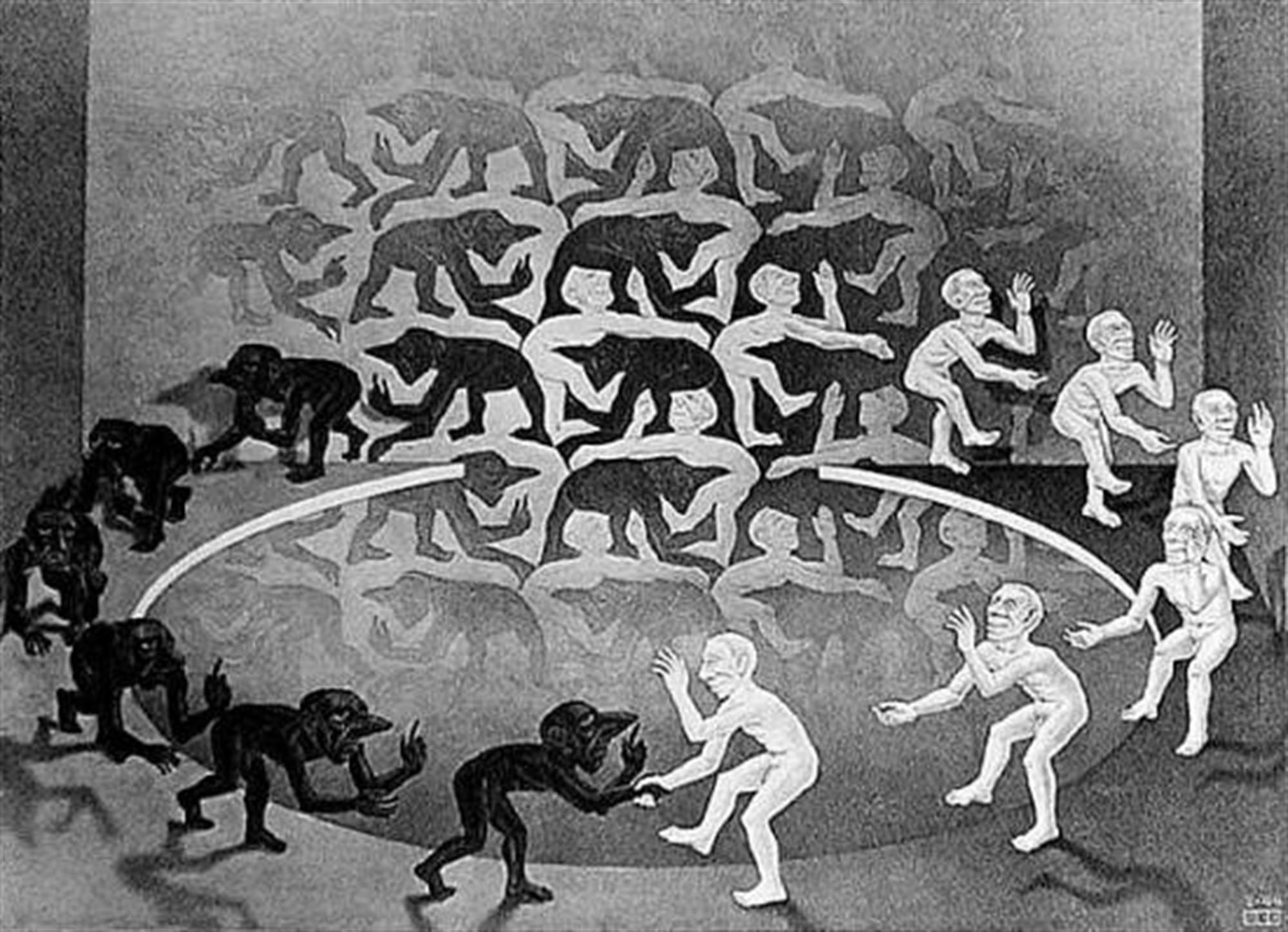 Encounter by M.C. Escher