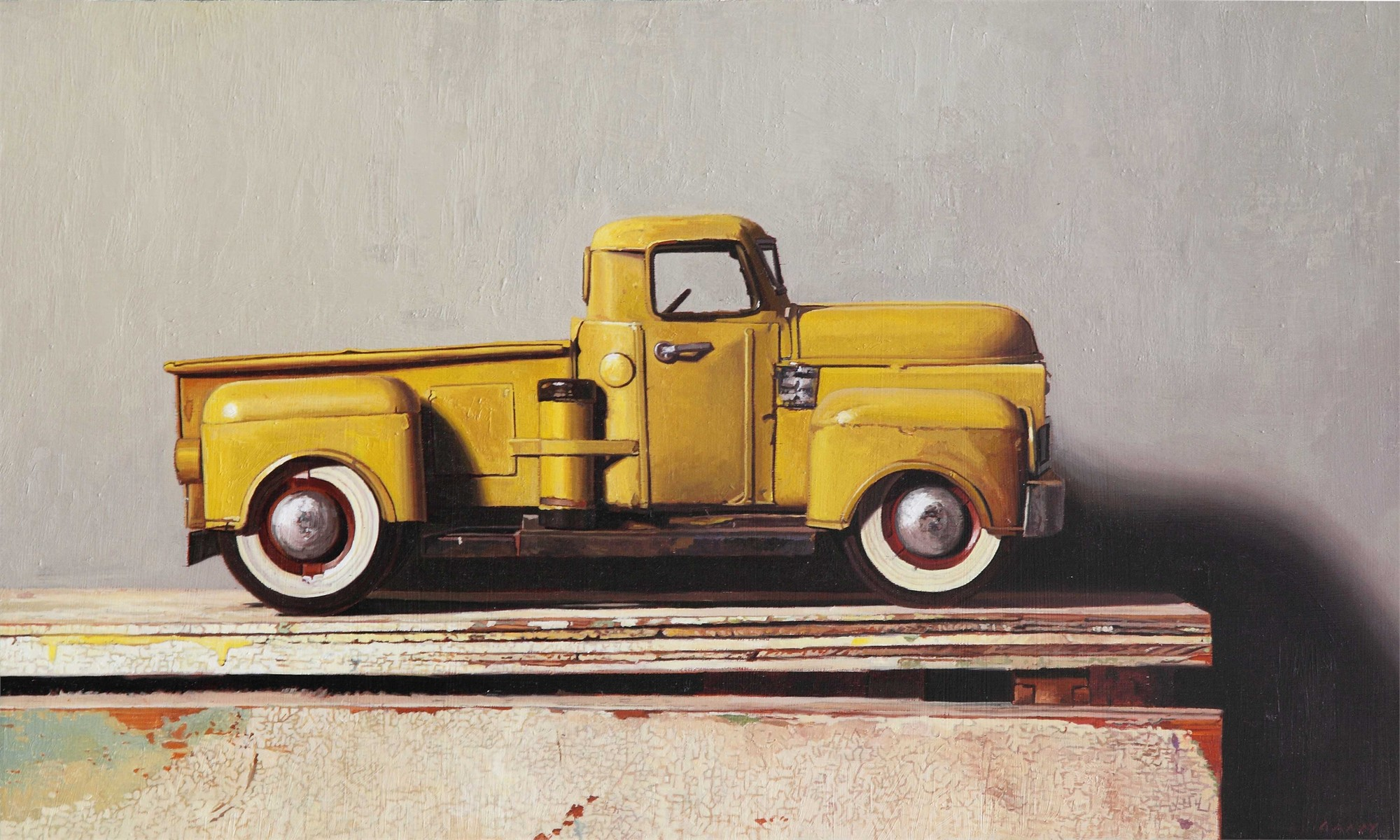 Yellow Toy Truck by Greg Gandy