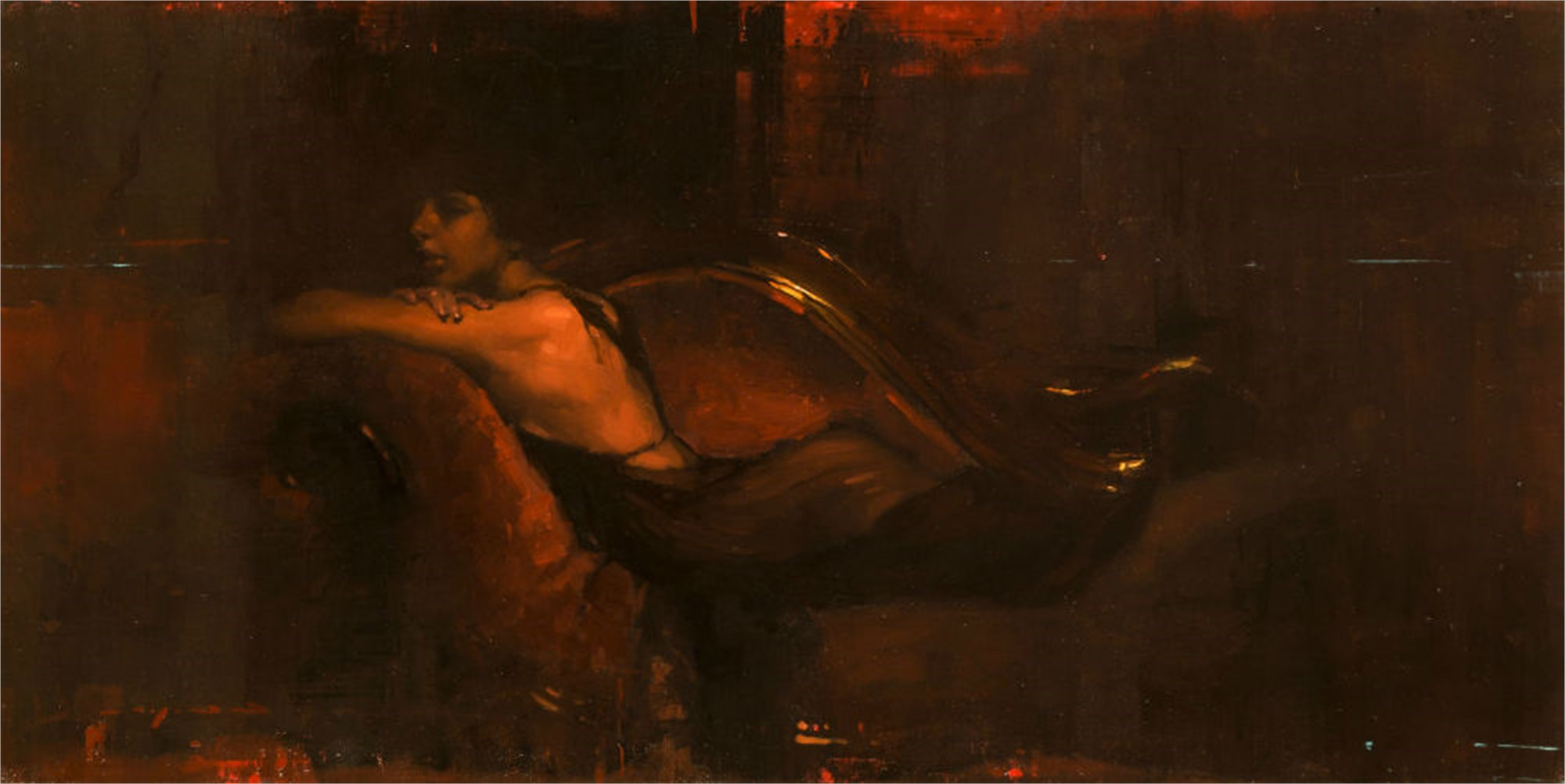 Repose in Red by Jeremy Mann