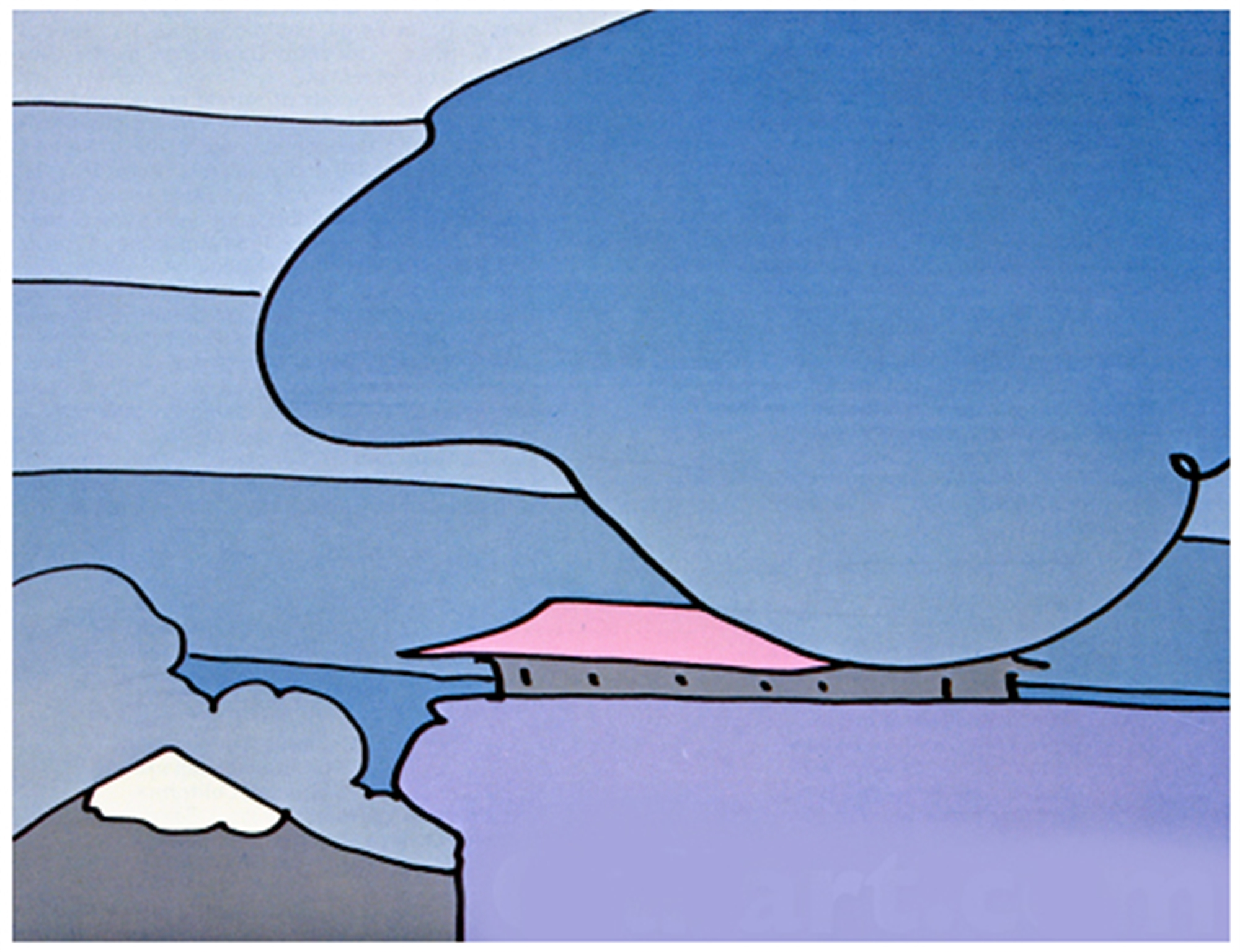 Early Morning I by Peter Max