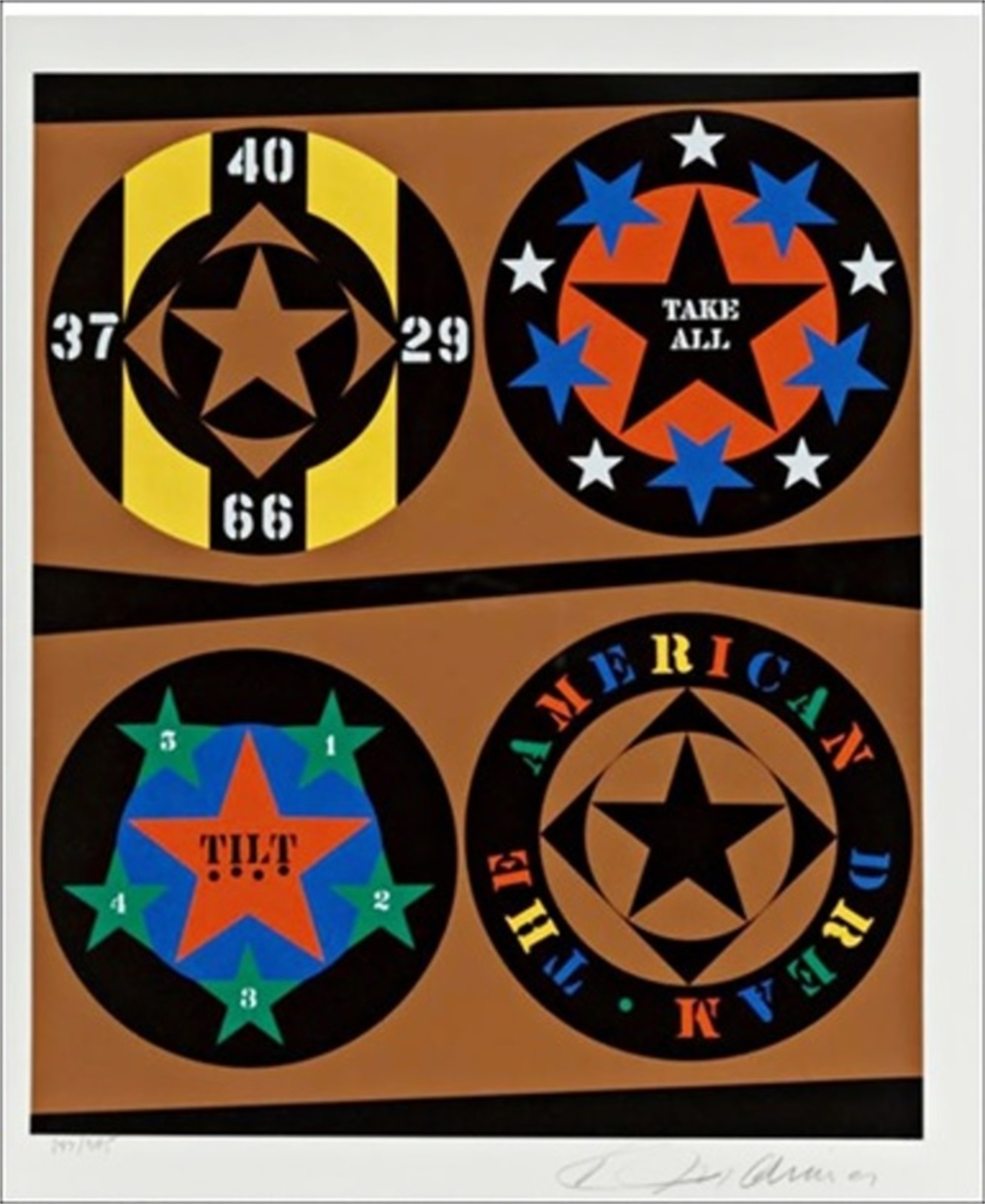 Tilt from the American Dream Portfolio by Robert Indiana