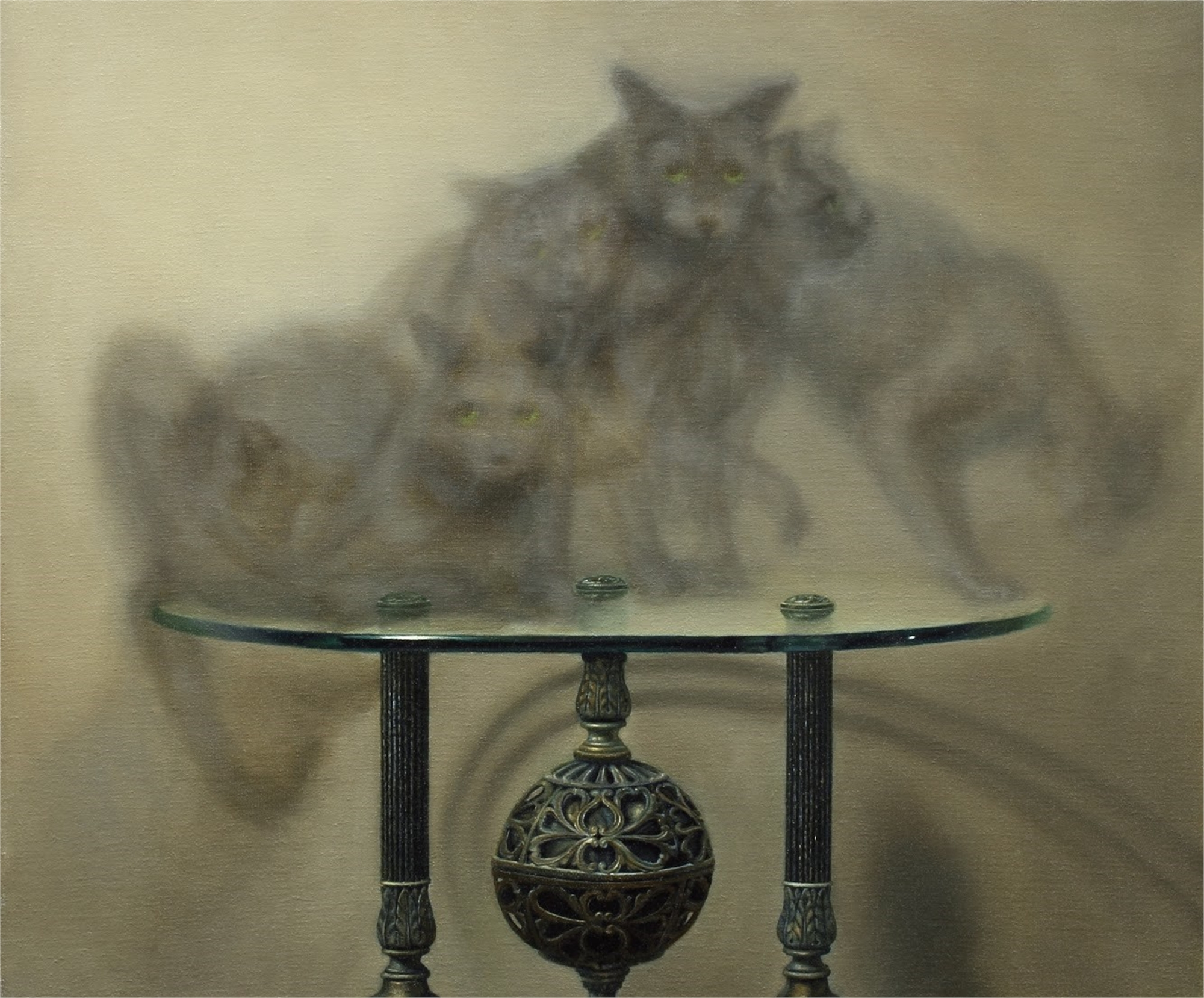 Cat on Table by Zane York