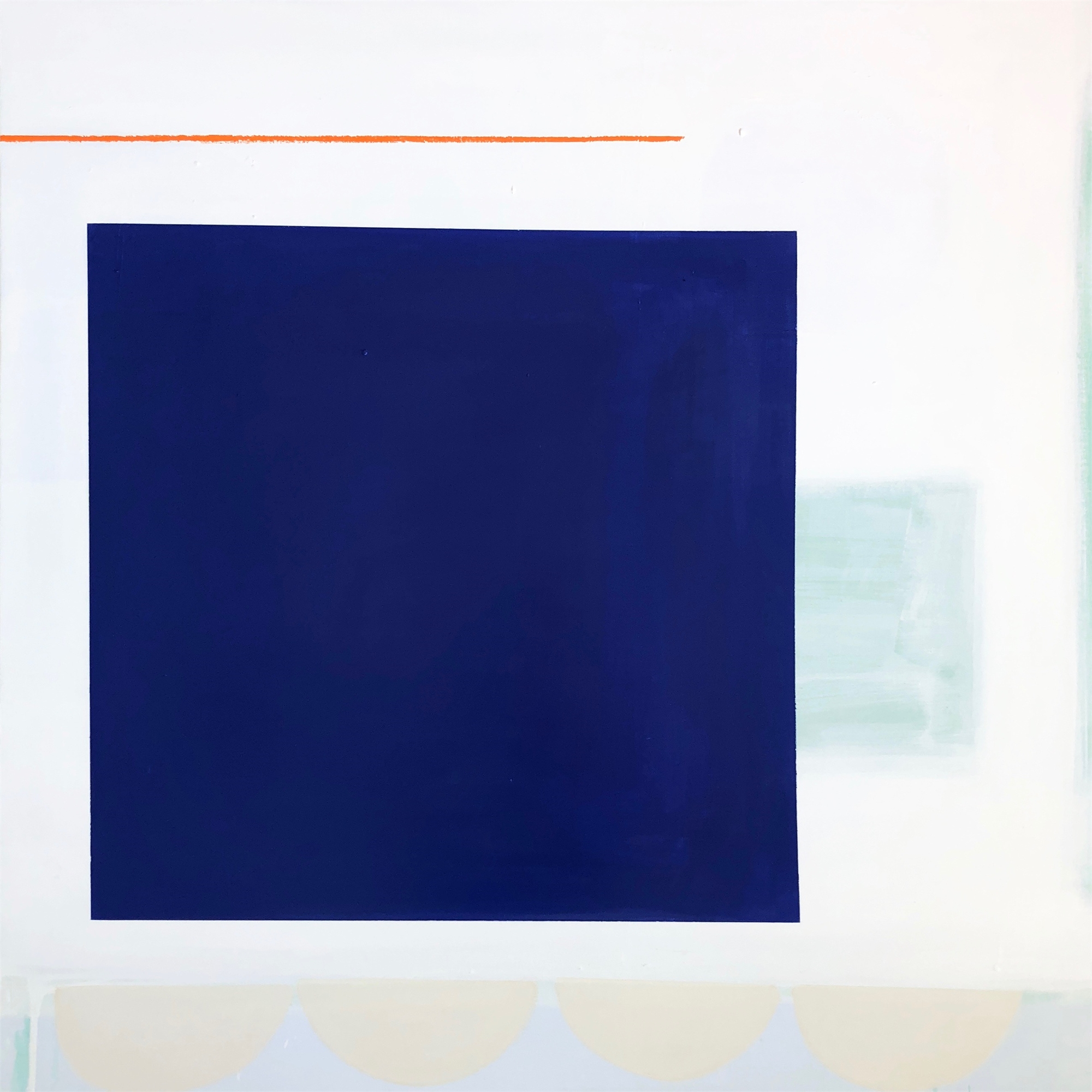 Deep Cobalt with Orange by Laurie Fisher