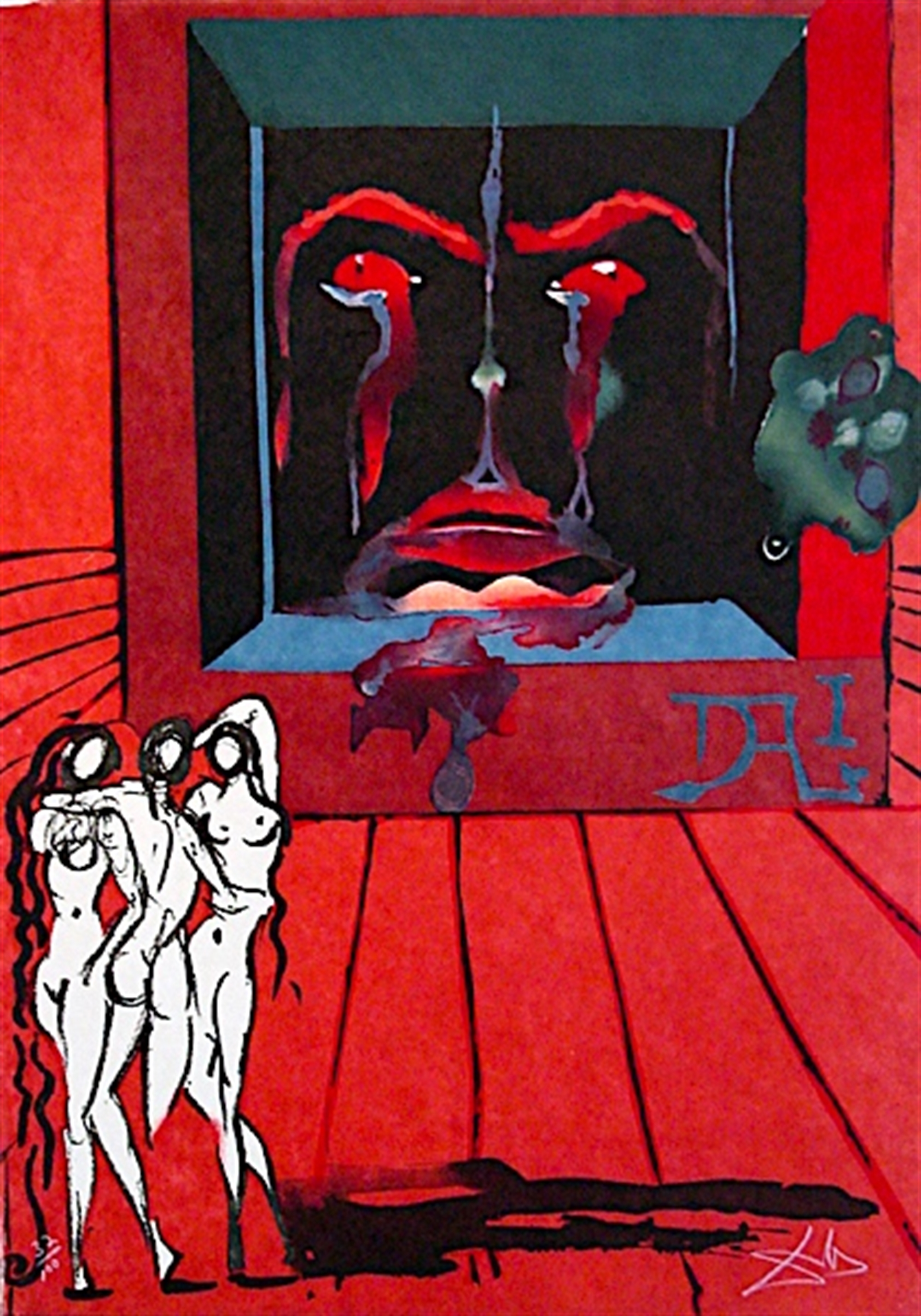 Obsession of the Heart/The World (from Visions Surrealiste Suite of 4) by Salvador Dali