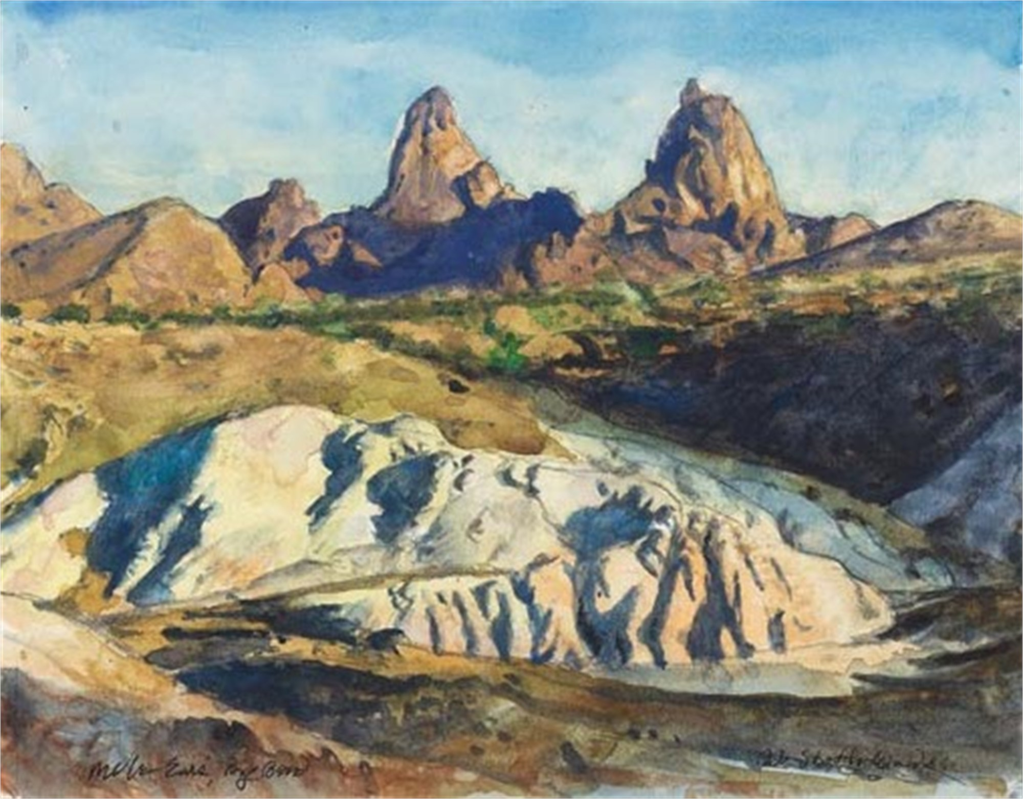 Mule Ears, Big Bend by Bob Stuth-Wade