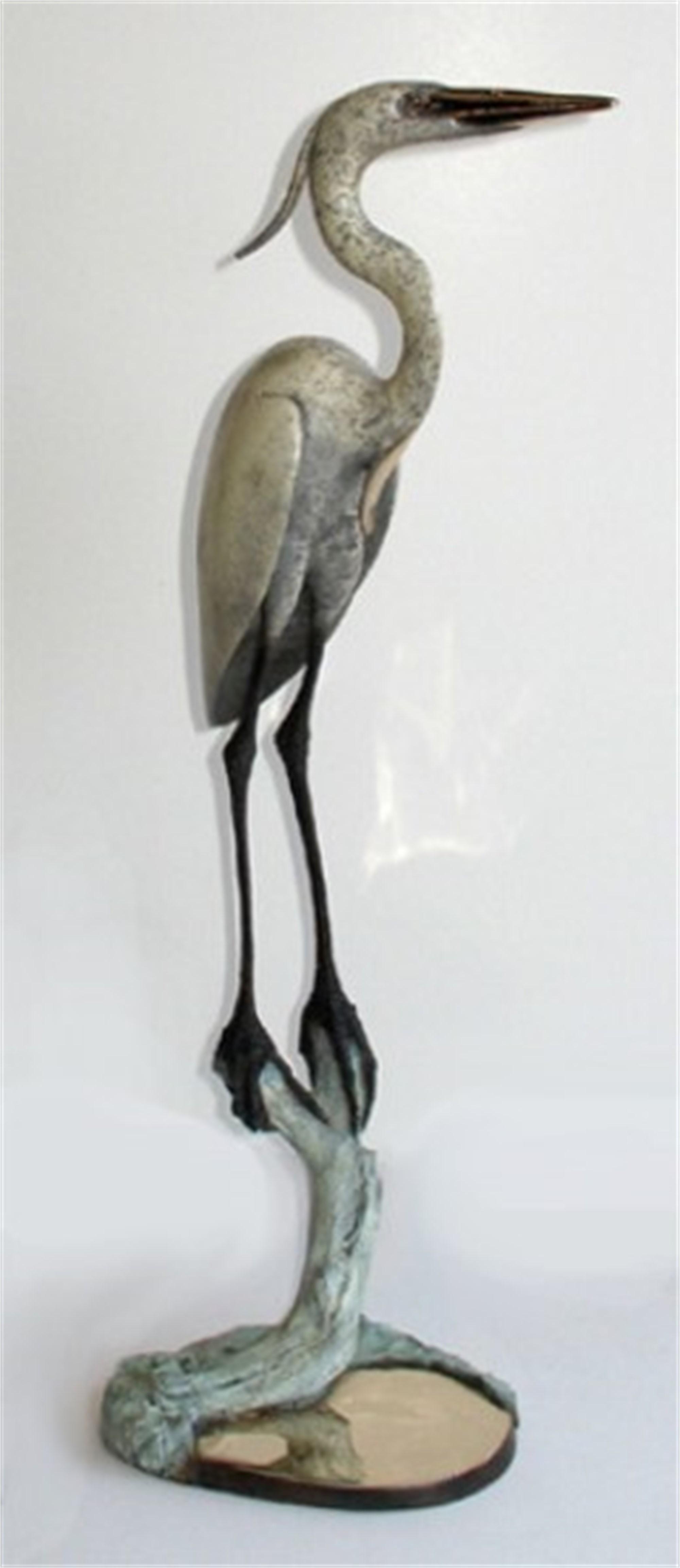 Heron in Marsh II by Brian Arthur