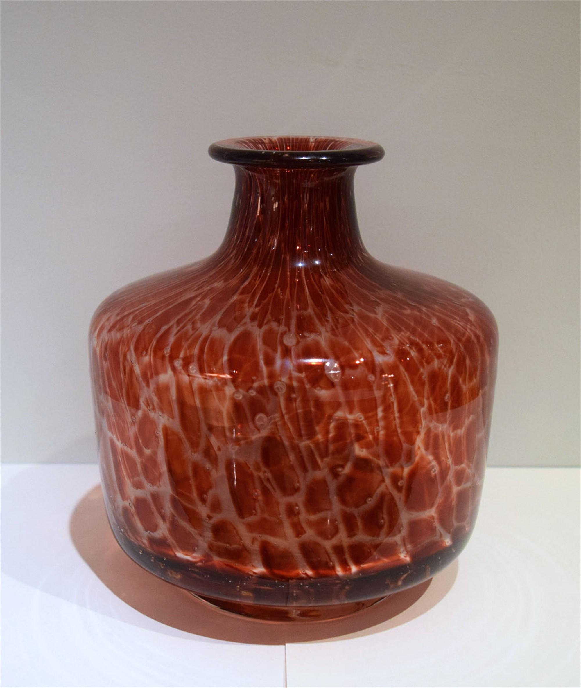 RED VENETIAN GLASS VASE