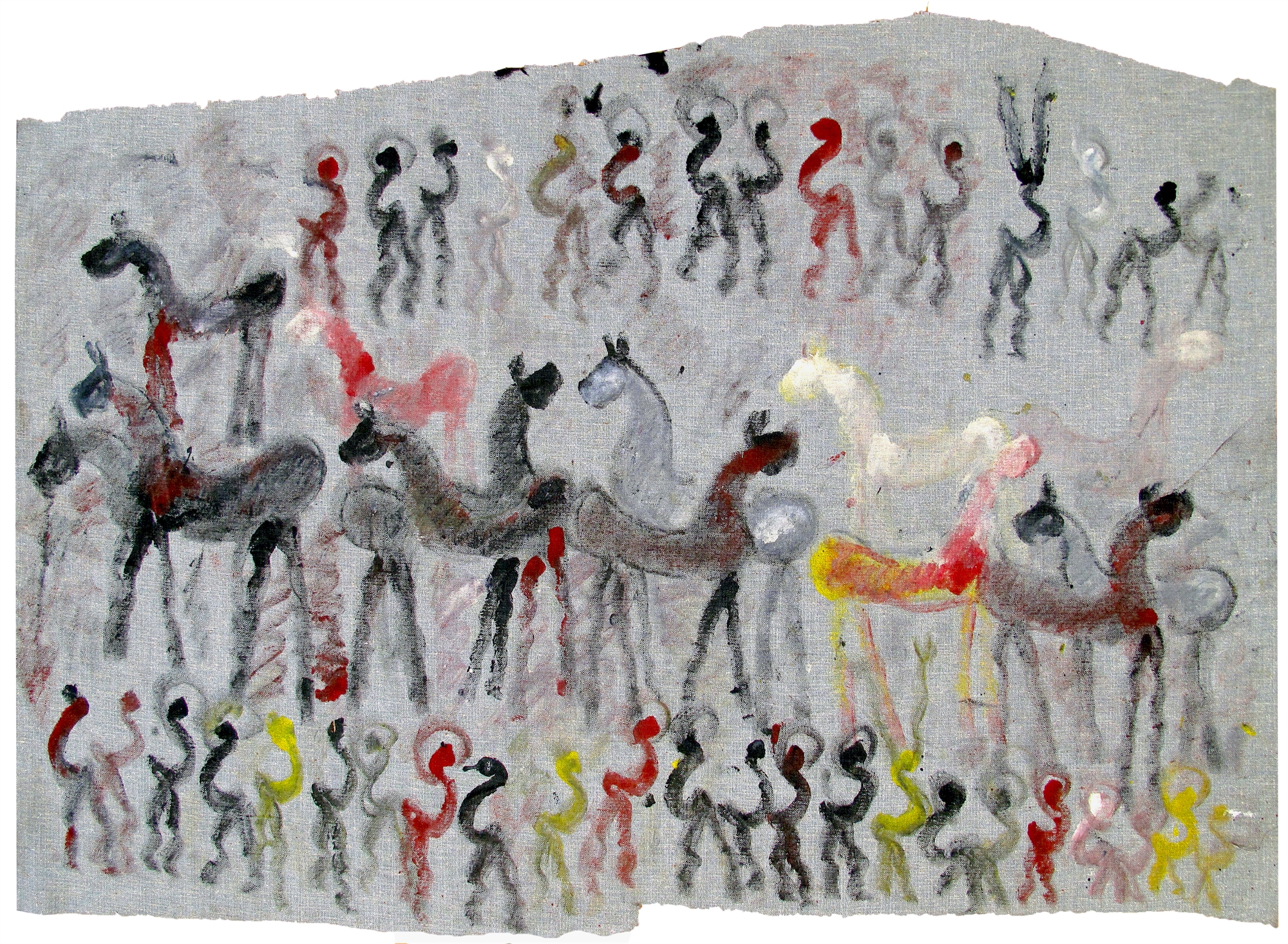 Wild Horses, Figures and Angels by Purvis Young