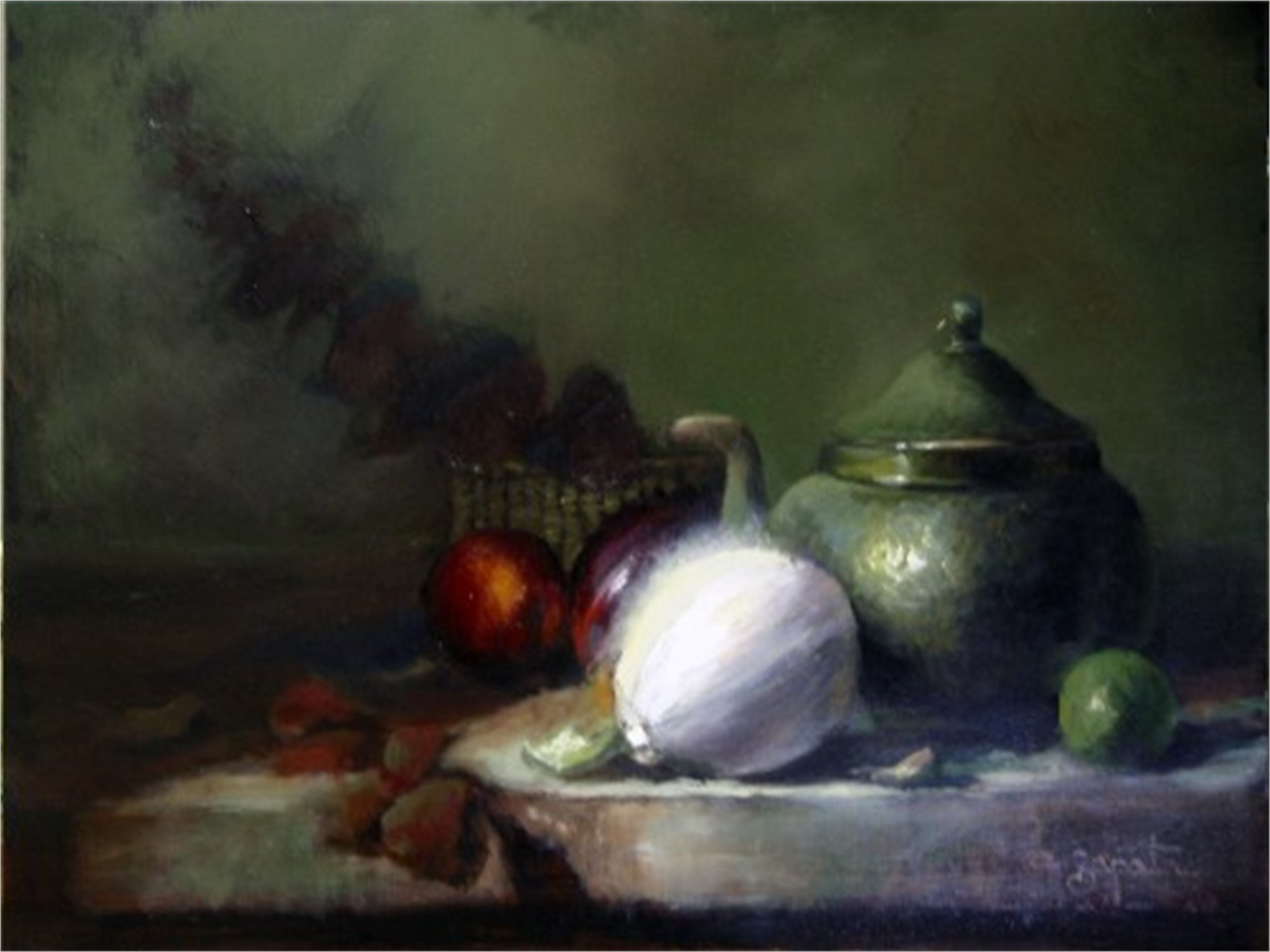STIL LIFE WITH WHITE ONION by ZAPATA