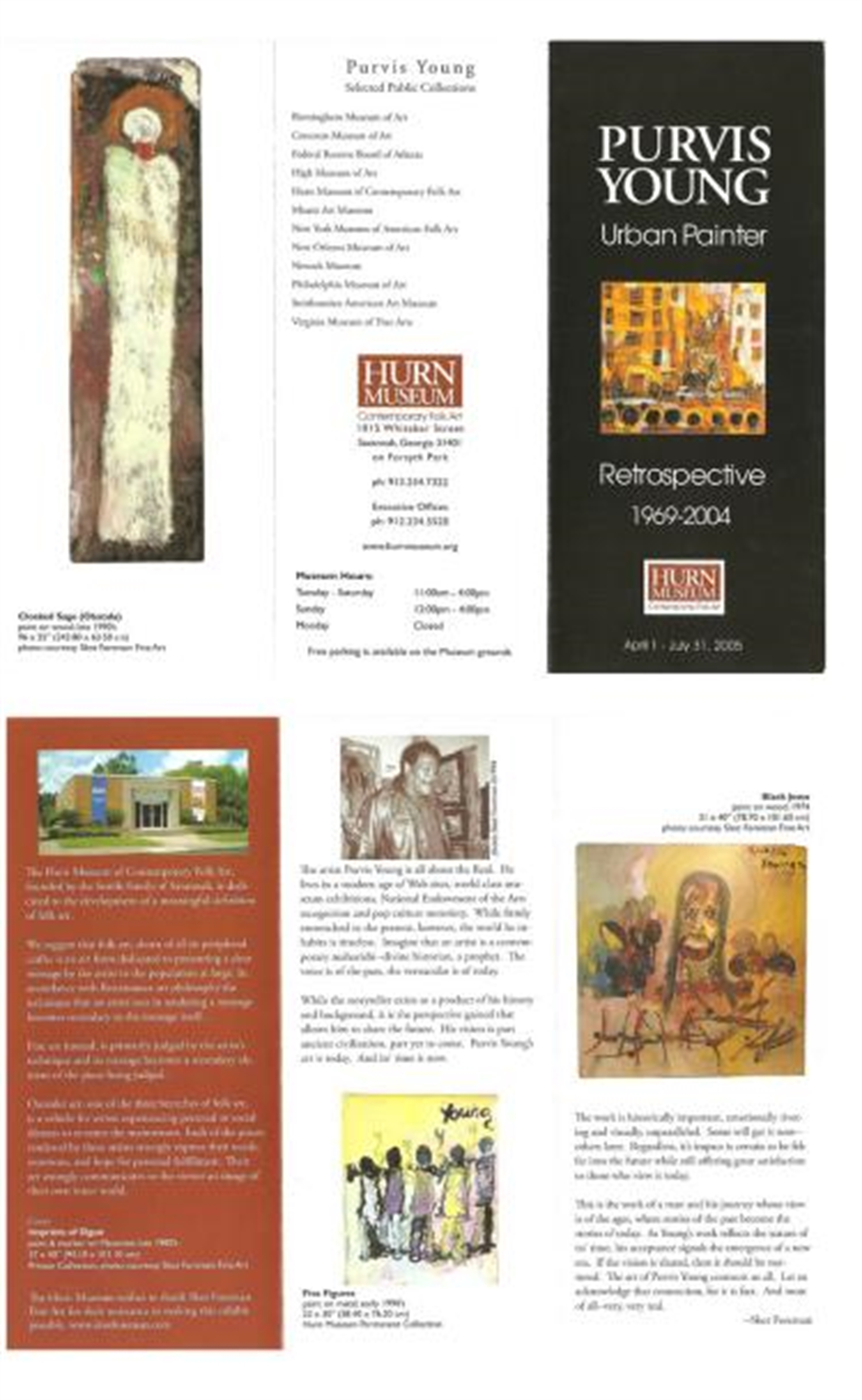 Hurn Museum Retrospective Brochure by Purvis Young