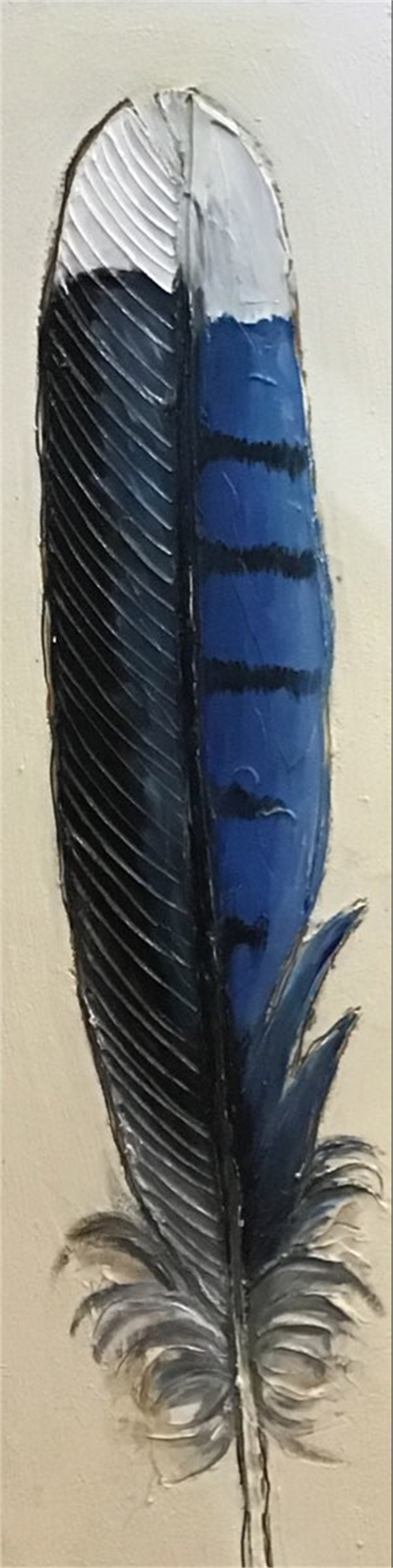 Blue Jay Feather 1 by Sherry Cook