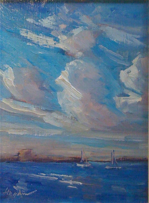 November Skies Over the Harbor by Karen Hewitt Hagan