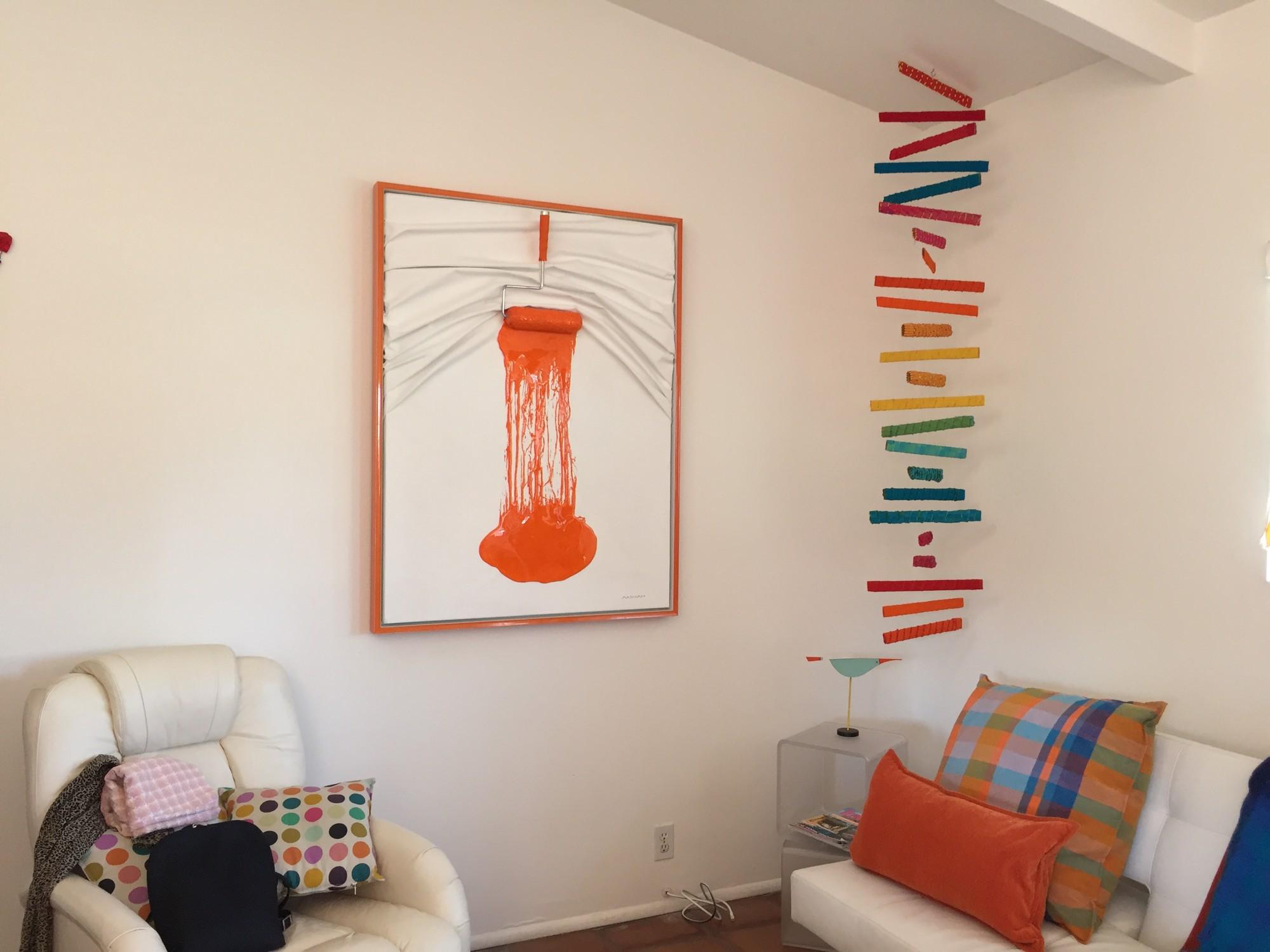 Special Roller (orange on off white) by Efi Mashiah
