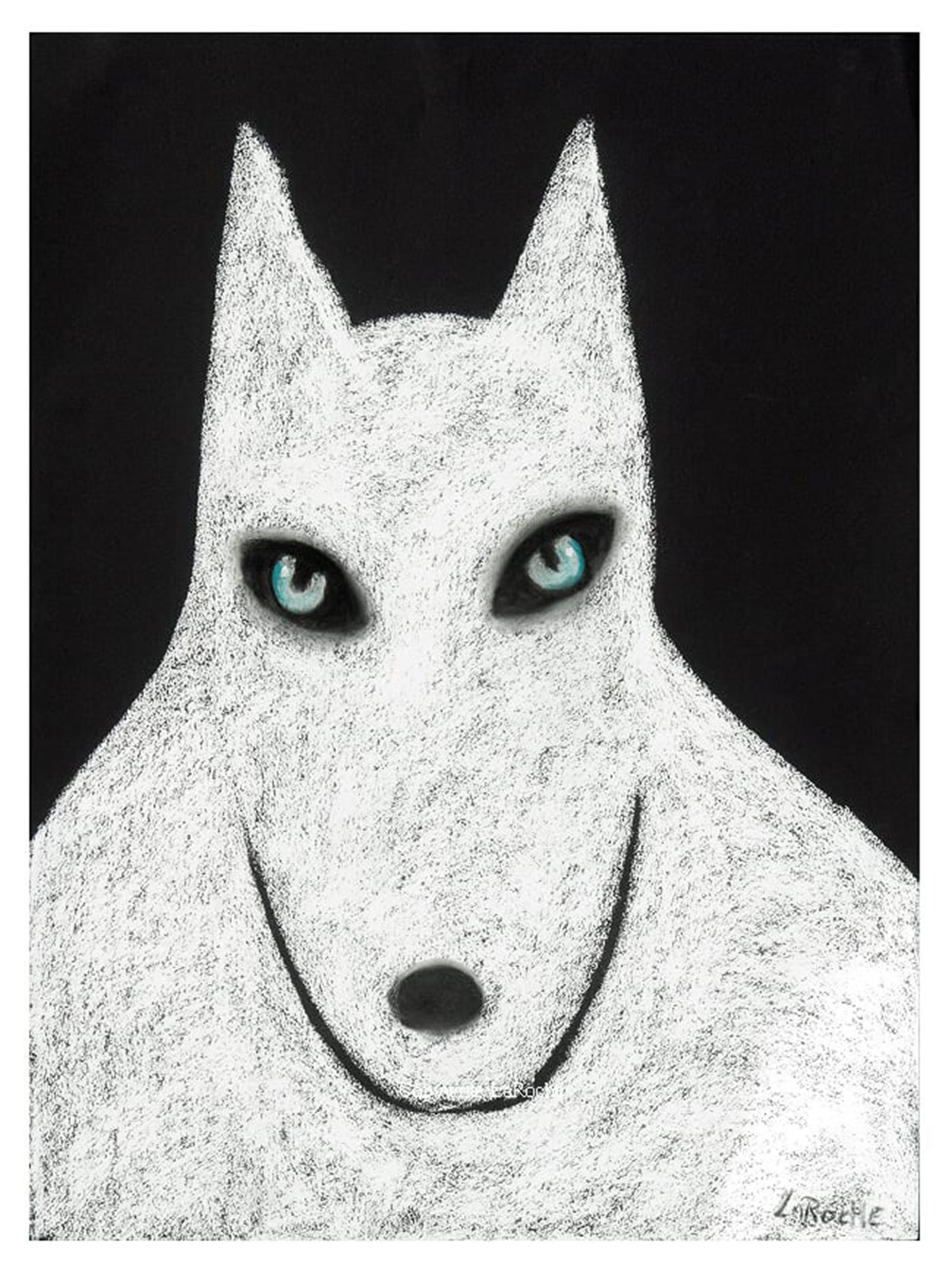 WHITE SHAMAN WOLF by Carole LaRoche