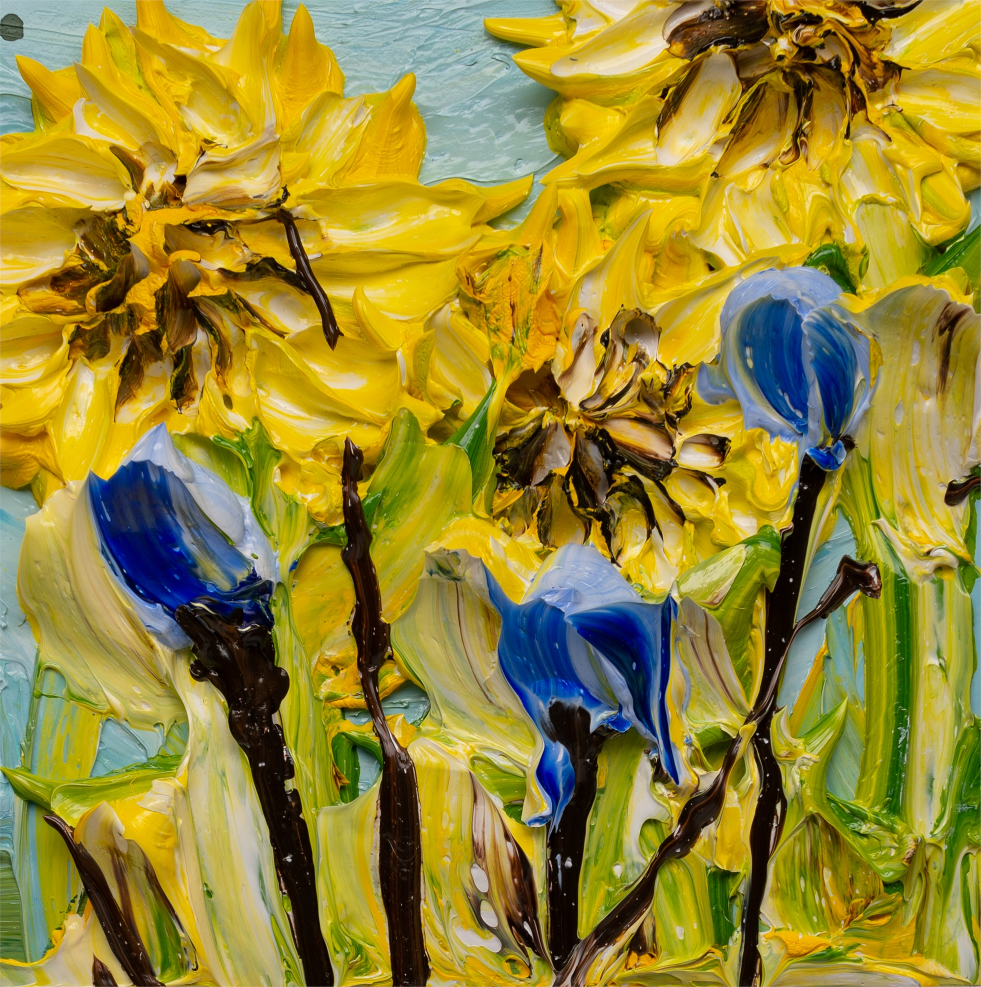 SUNFLOWERS SF-12X12-2019-384 by JUSTIN GAFFREY