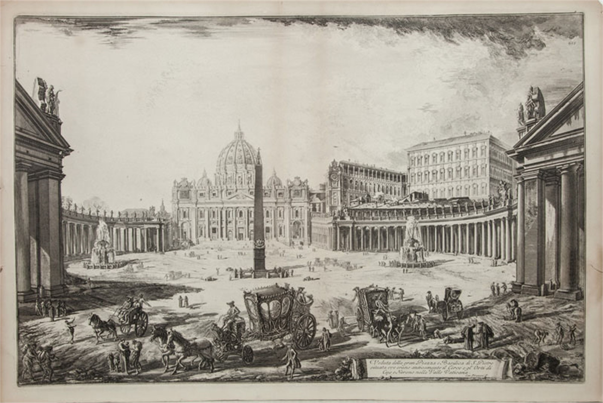 Basilica St.Pietro by Francesco Piranesi