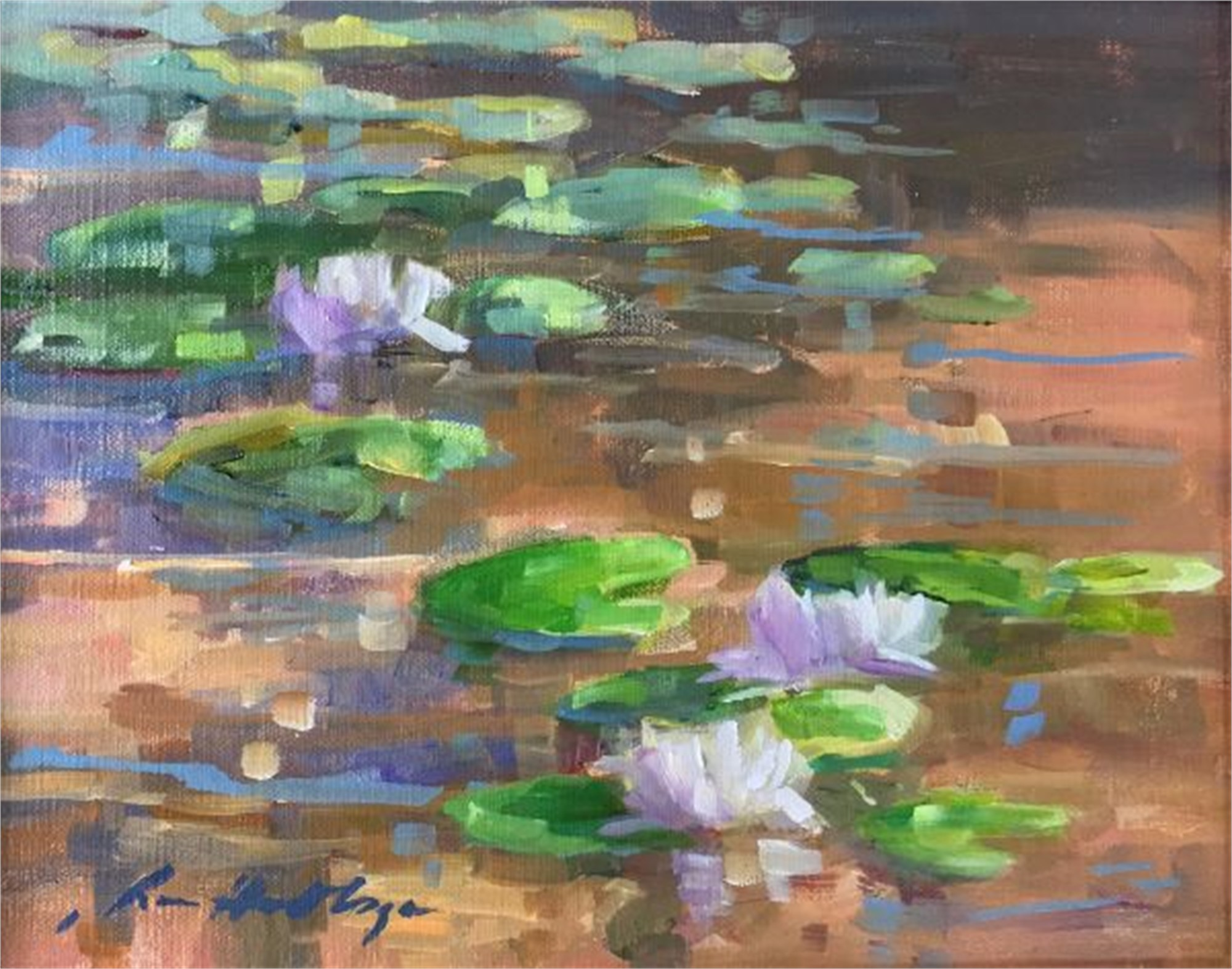 Nymphaea At Noon, Cashiers, NC by Karen Hewitt Hagan