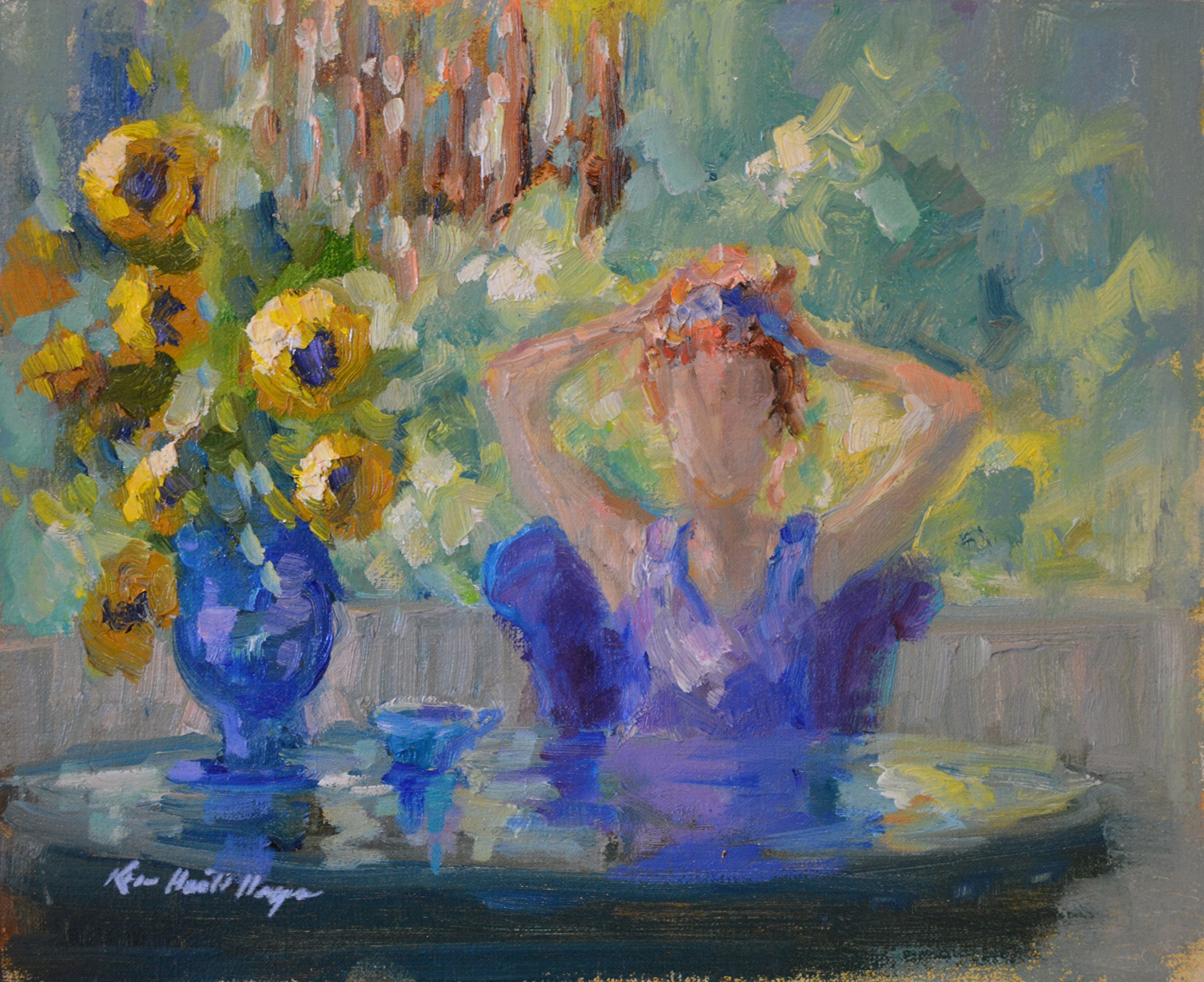 Morning Sunlight at My Table by Karen Hewitt Hagan