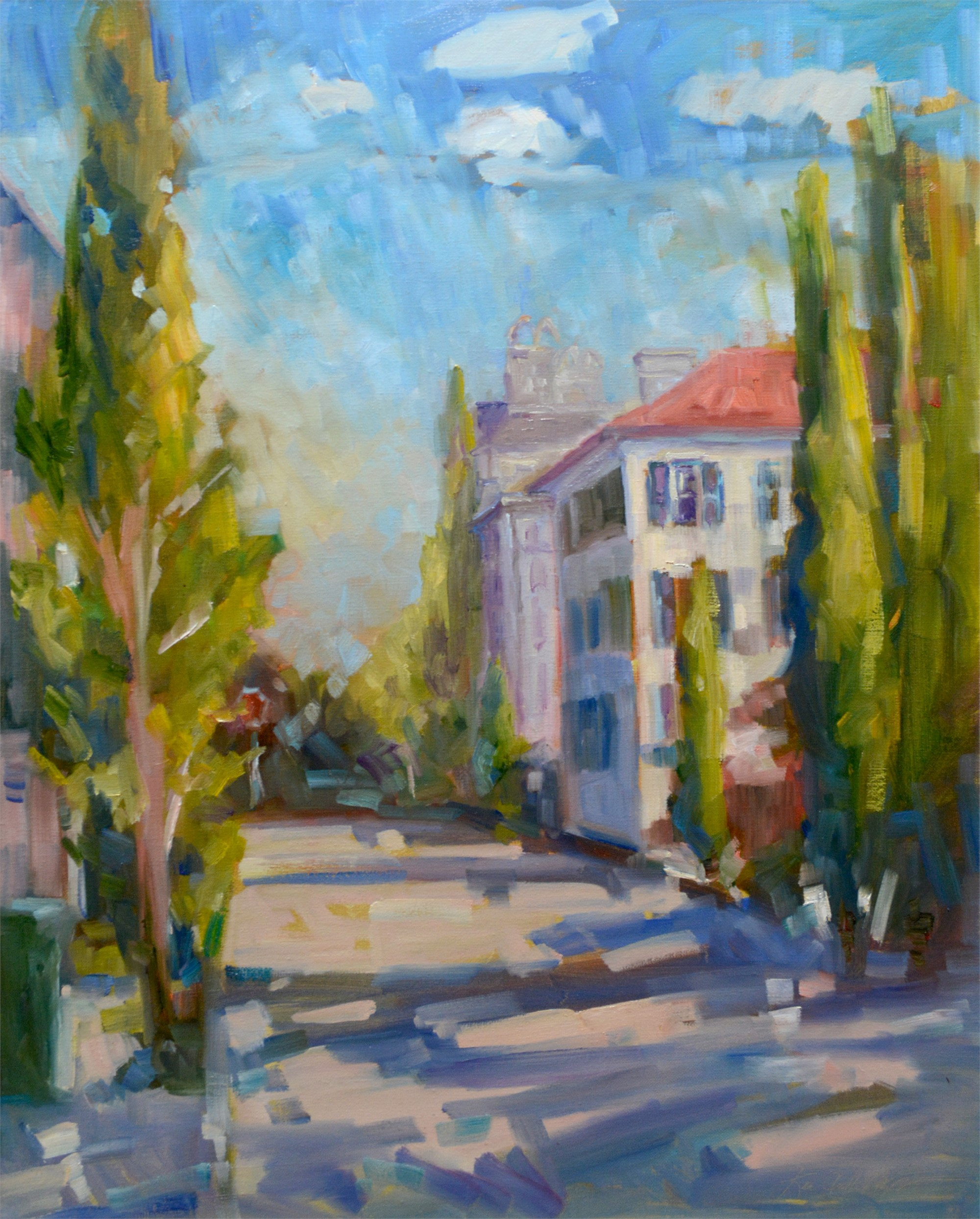 Long View of St. Michael's Alley by Karen Hewitt Hagan