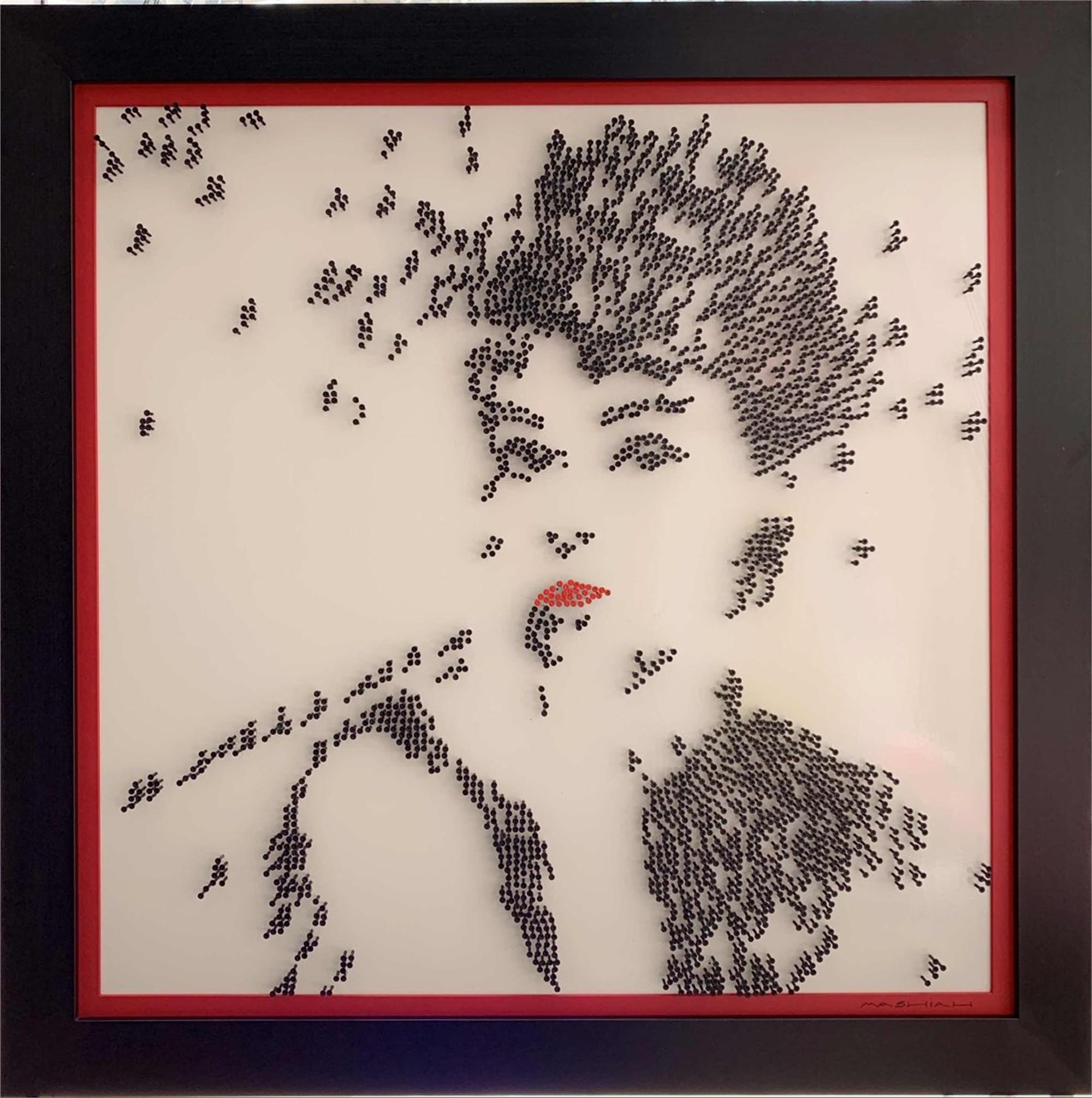 Audrey Hepburn - White Background by Efi Mashiah