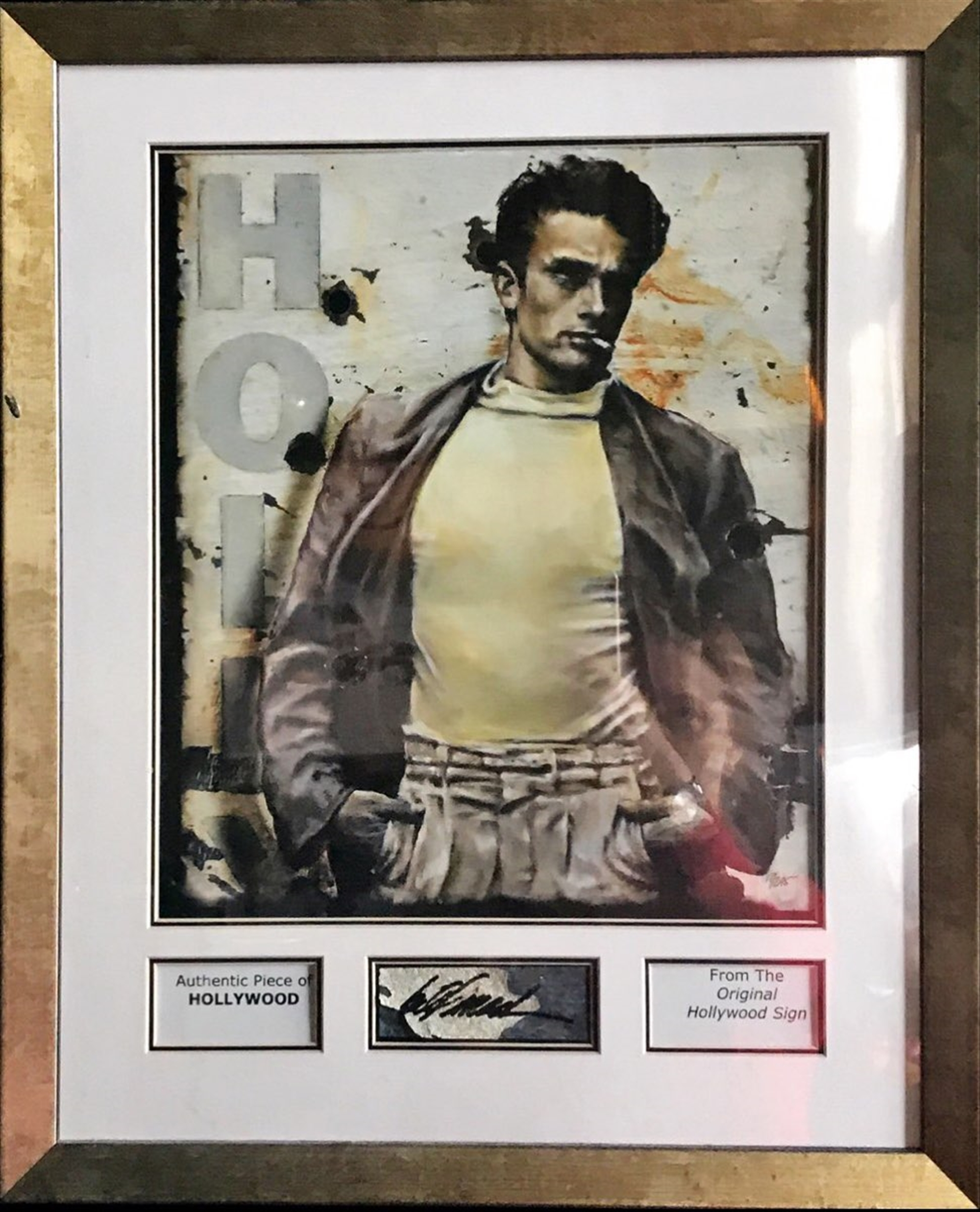 James Dean Hollywood Sign Name Plate by Bill Mack