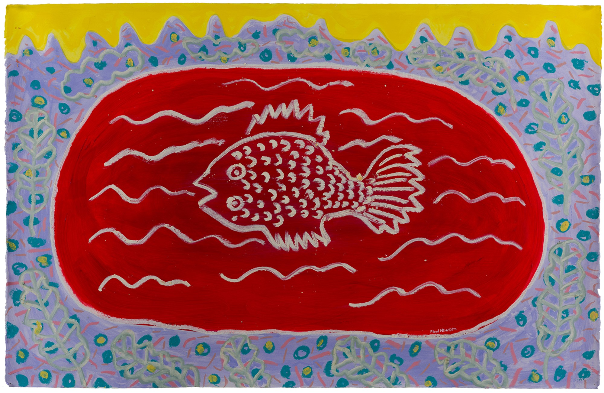 Red Fish with Yellow Sky by Floyd Newsum