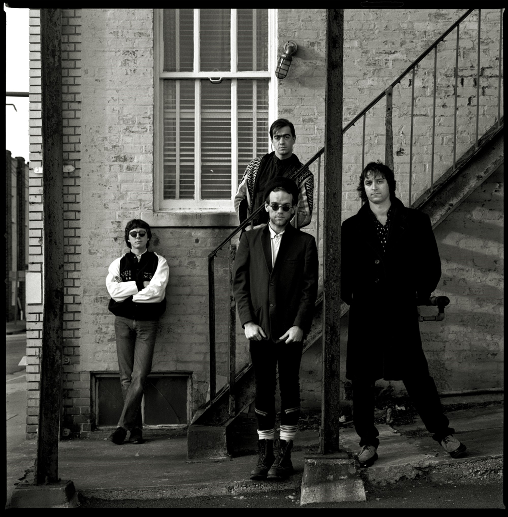 89013 R.E.M. Standing 1 BW by Timothy White