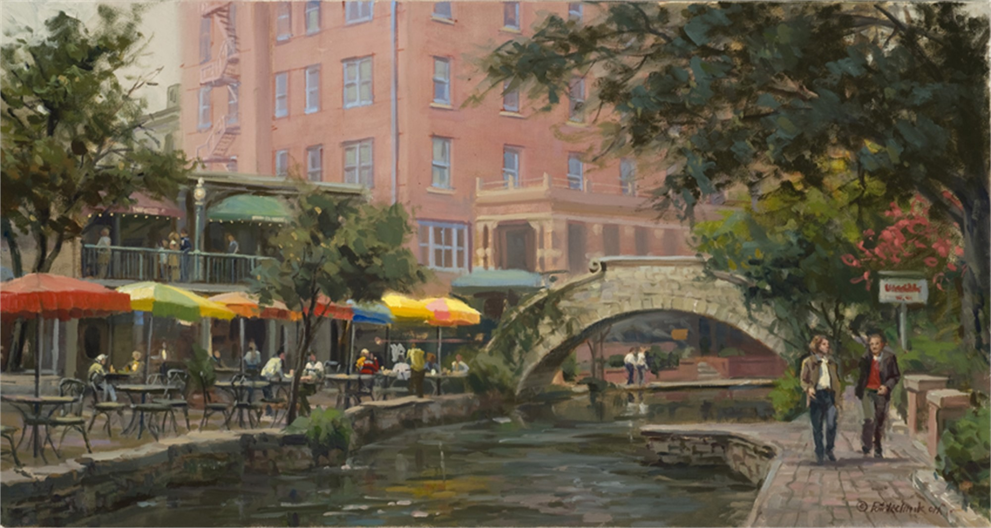 Lunch Along the Riverwalk by John Pototschnik