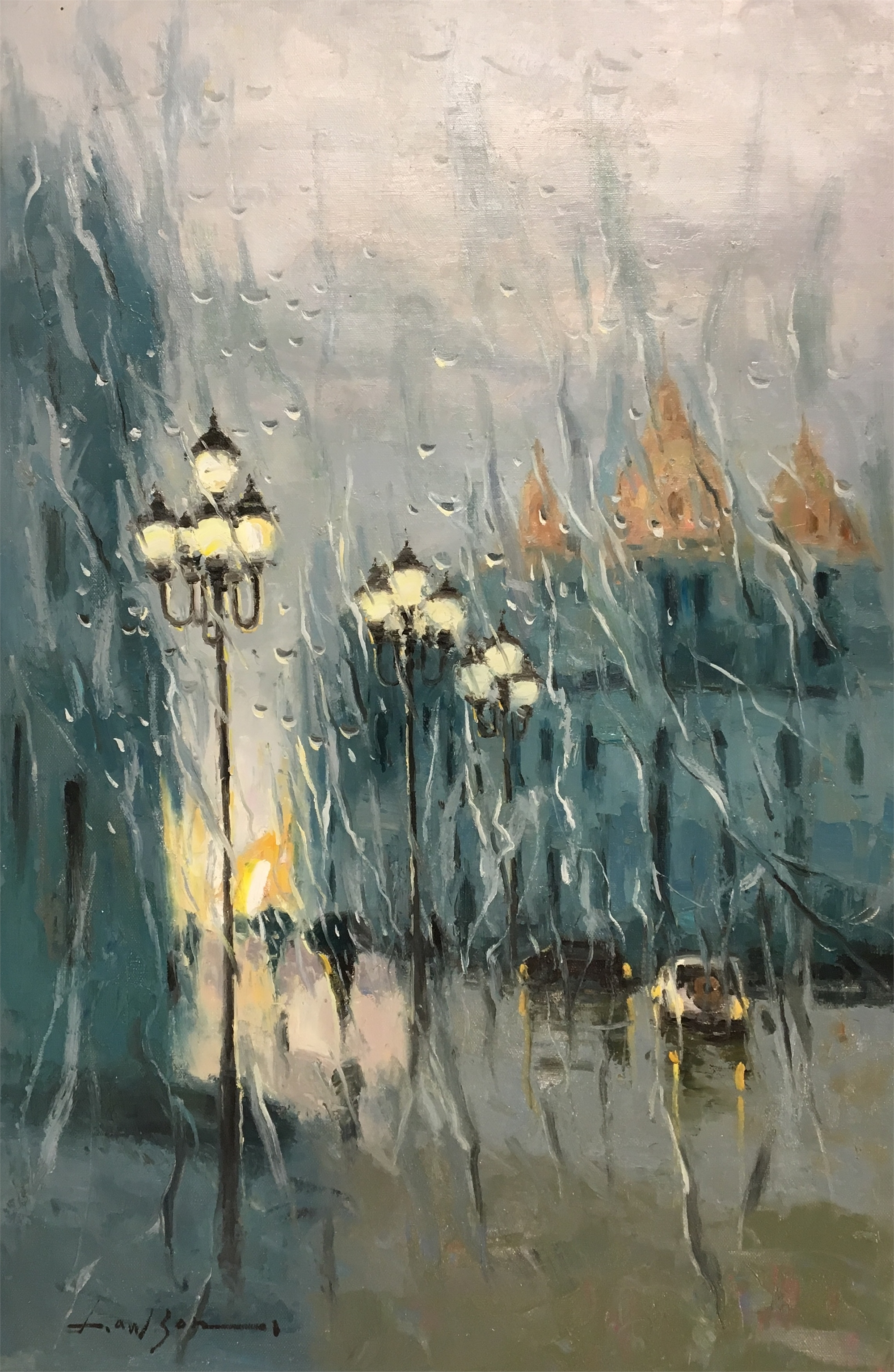 RAIN ON THE WINDOW STREETLAMPS by LAWSON