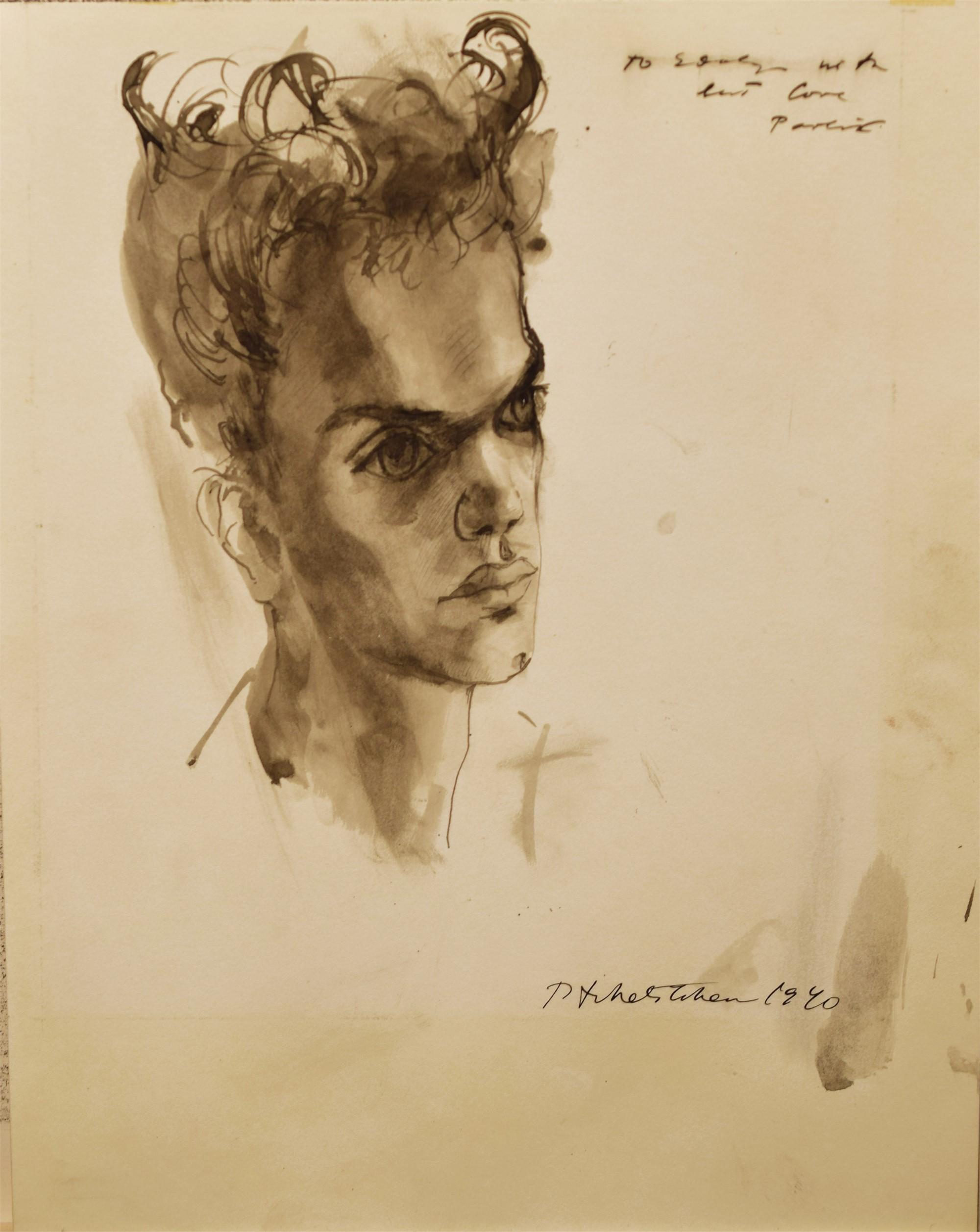 PORTRAIT OF EDULJI DINSHAW by Pavel Tchelitchew