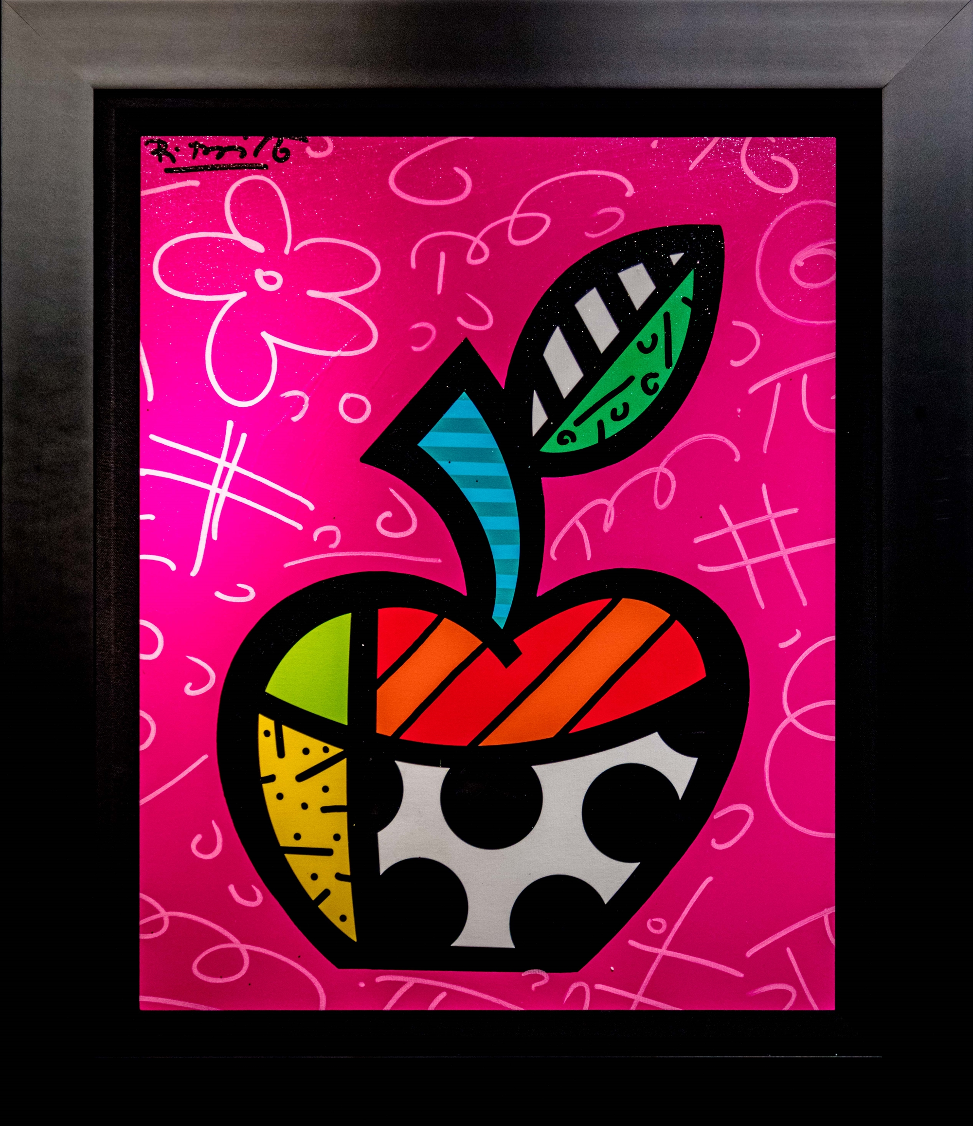 FLORIDA APPLE by Romero Britto