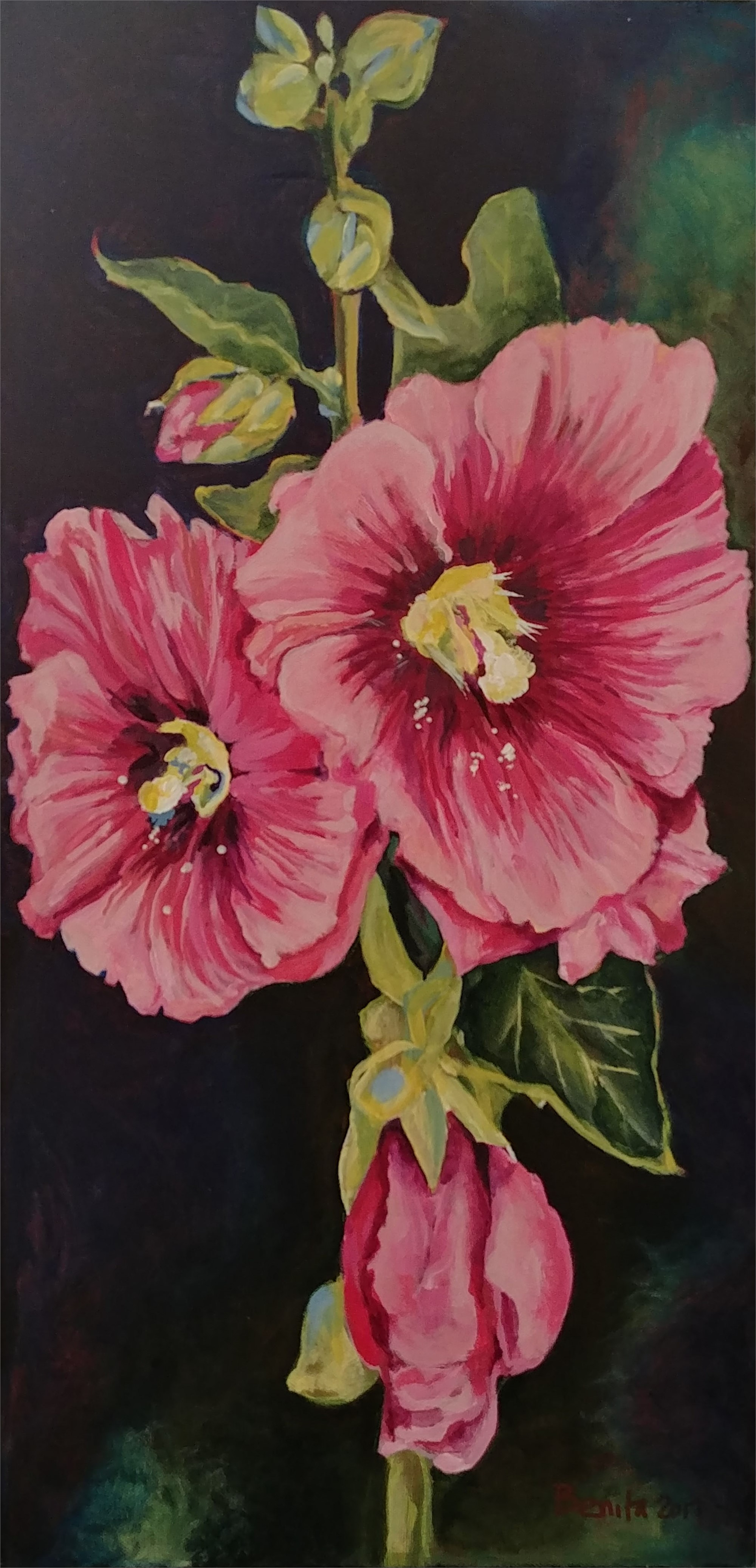 Tall Hollyhock by Benita Cole (McMinnville, OR)