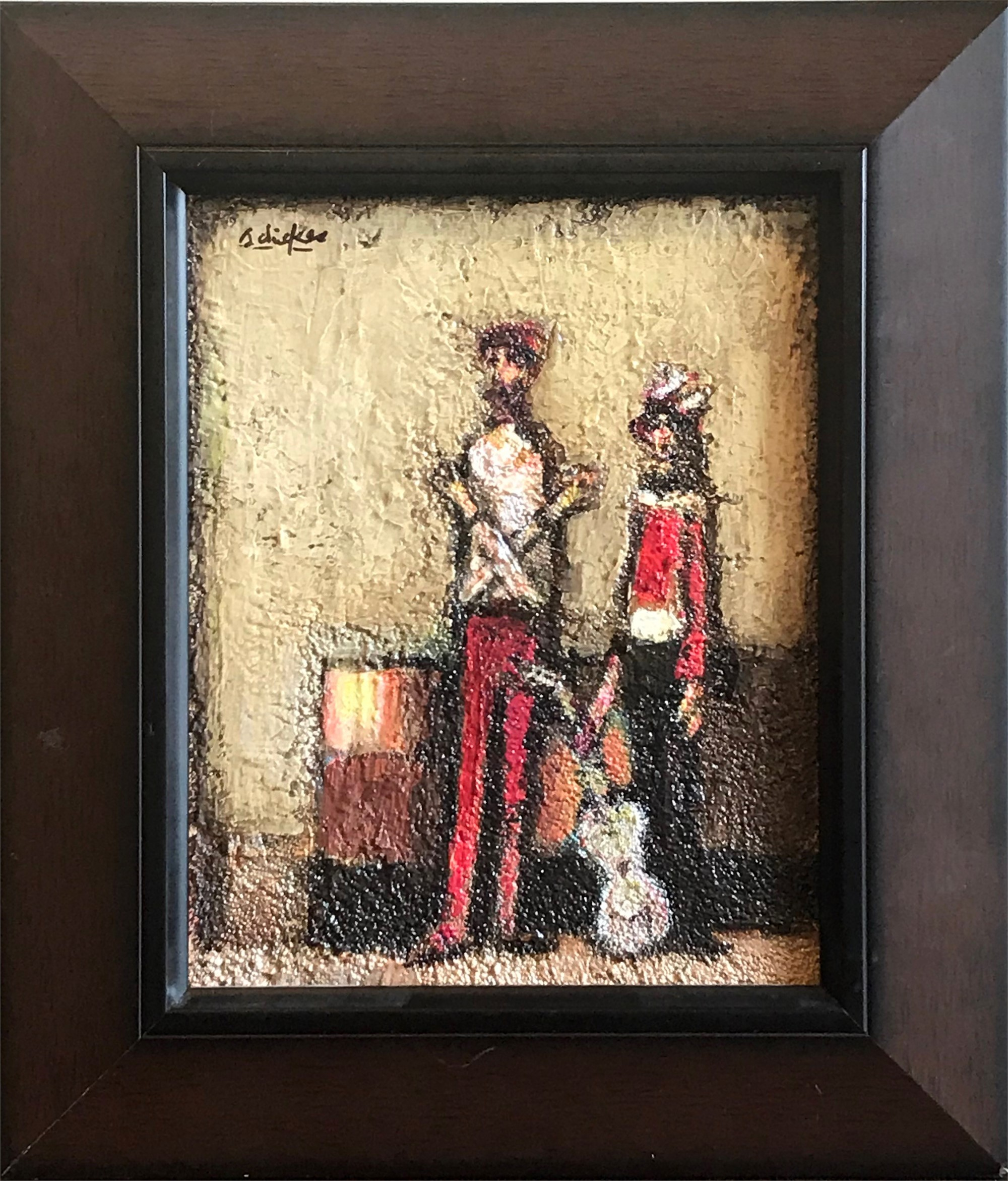 Two Men with Guitar by David Adickes