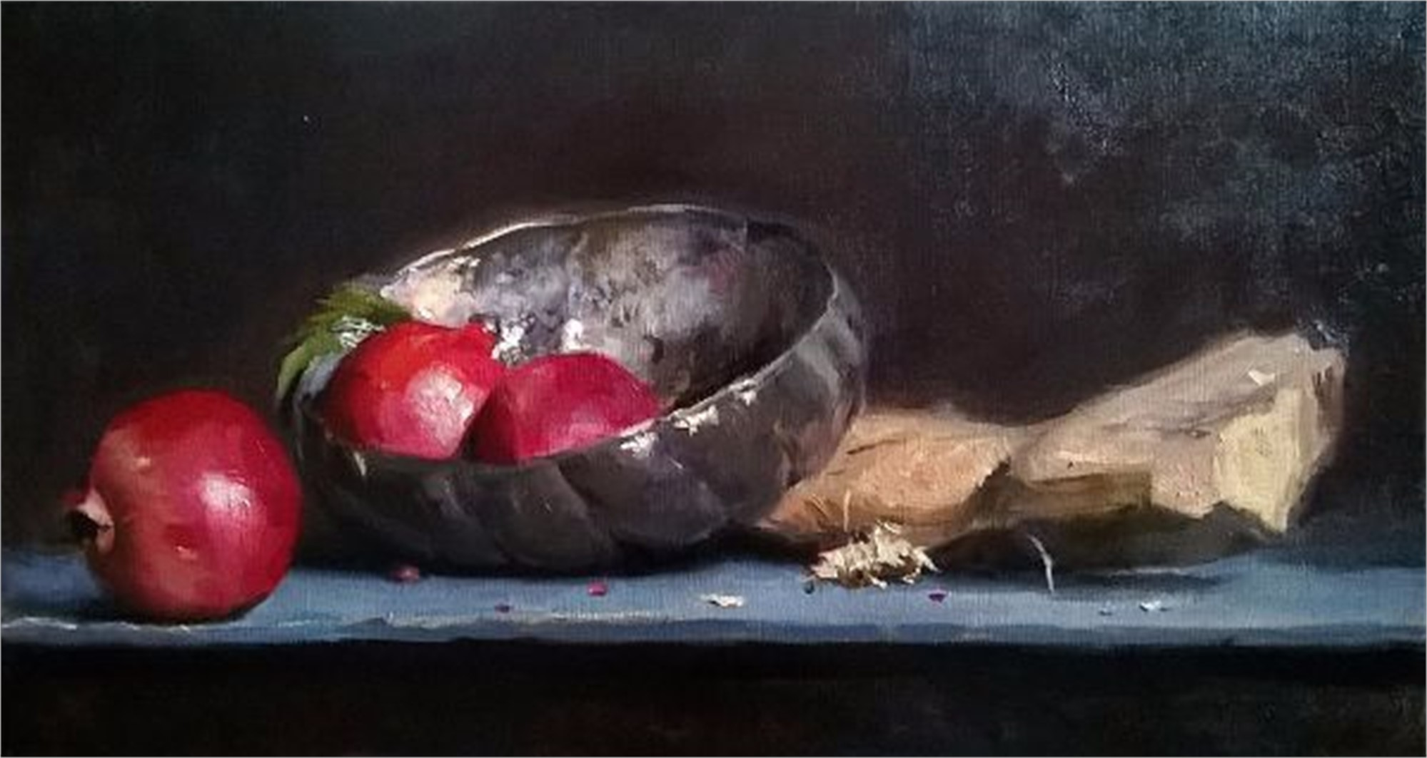Silver with Pomegranates by Tanvi Pathare