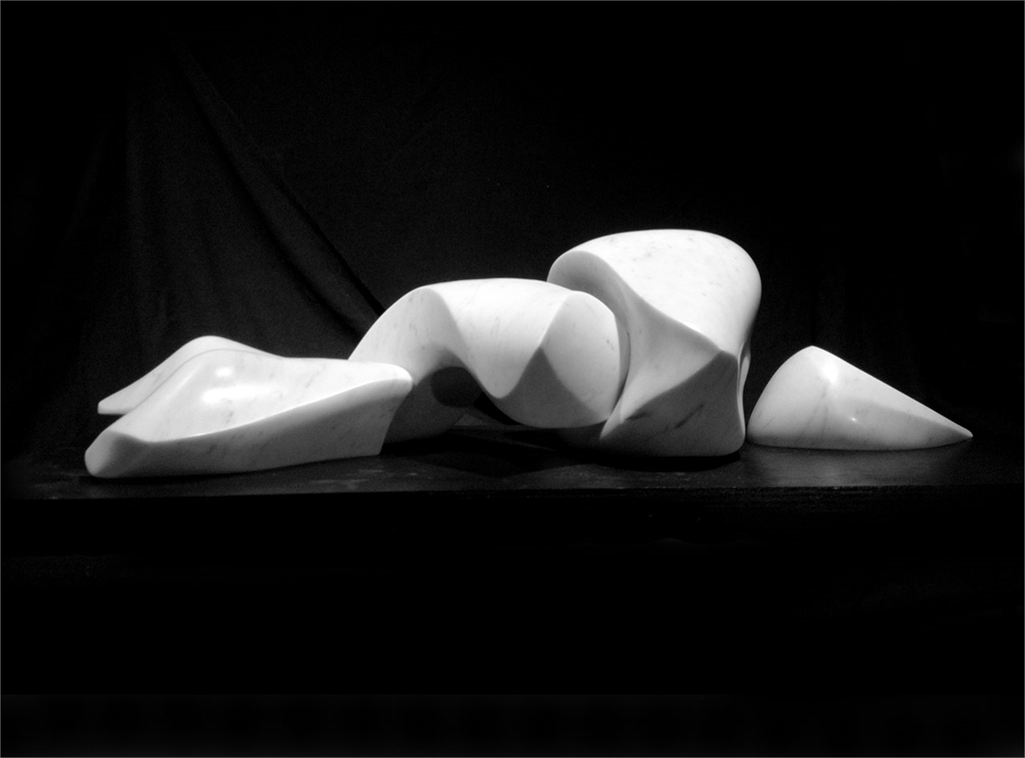 Reclining Twist in Four Pieces by Steven Lustig