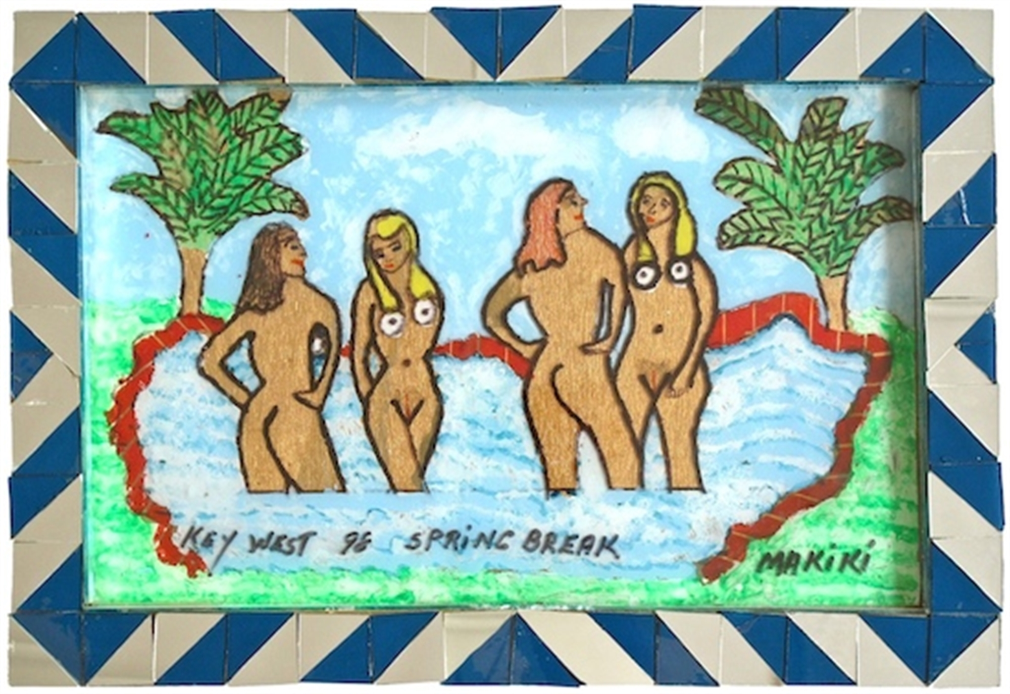 Four Bathers by Makiki aka Geraldo Alfonso