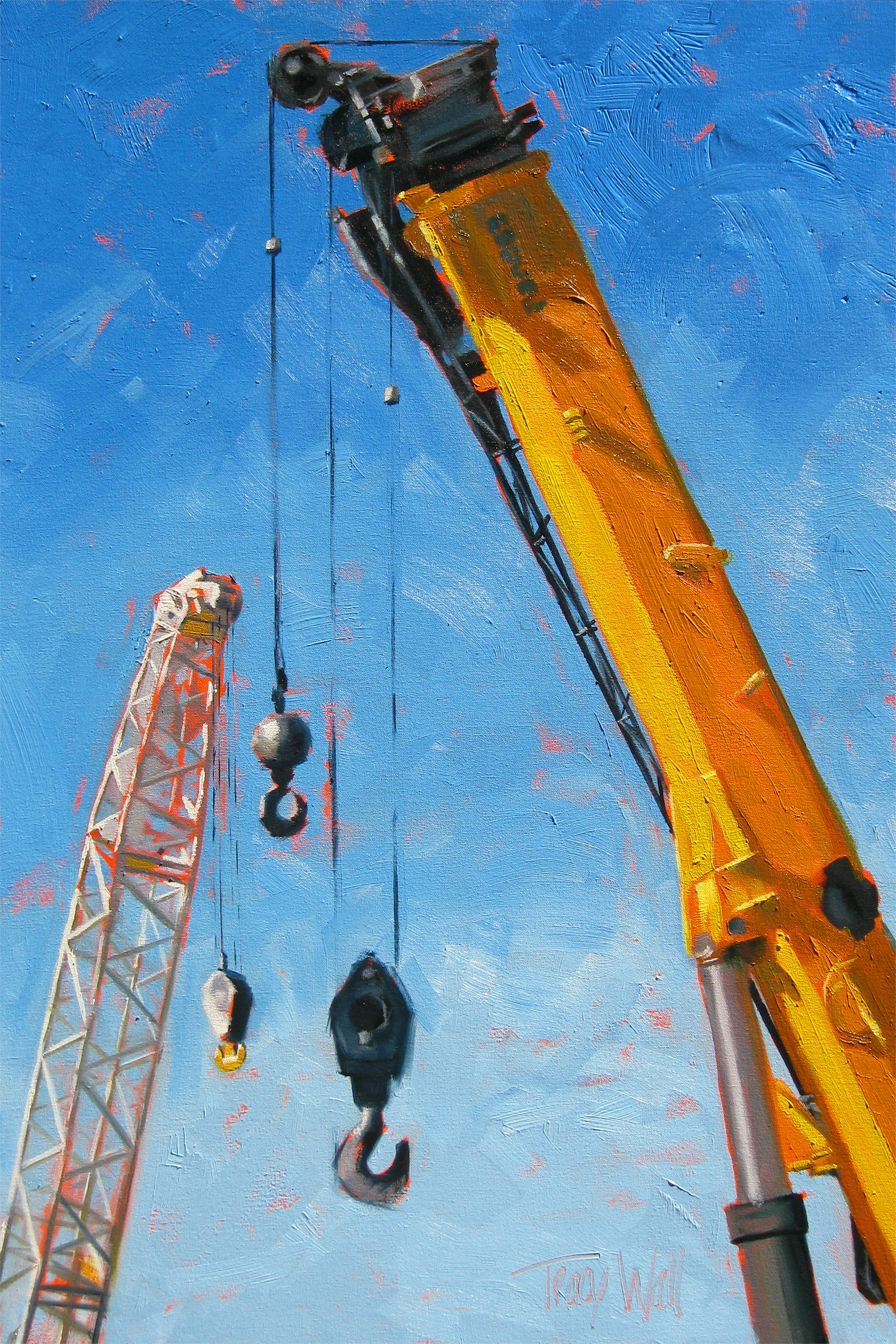 Crane Conversation by Tracy Wall