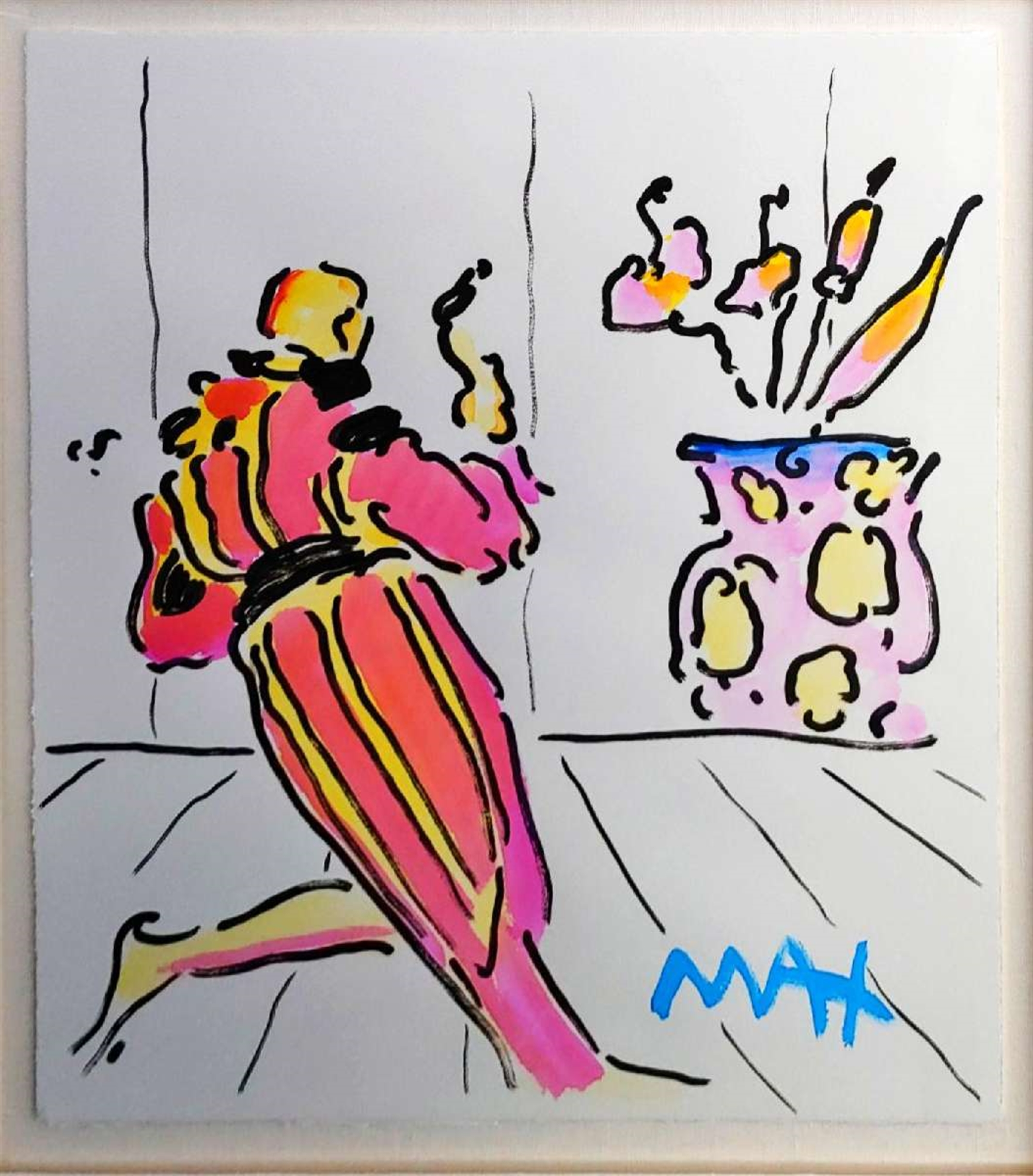 MONK WITH VASE by Peter Max