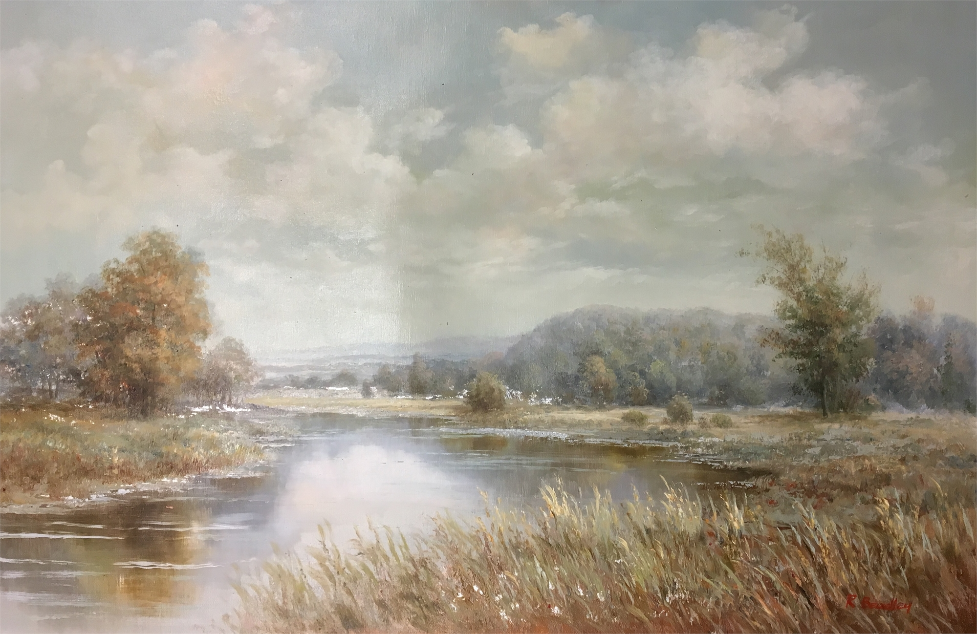 SLOW RIVER THROUGH VALLEY by R BRADLEY