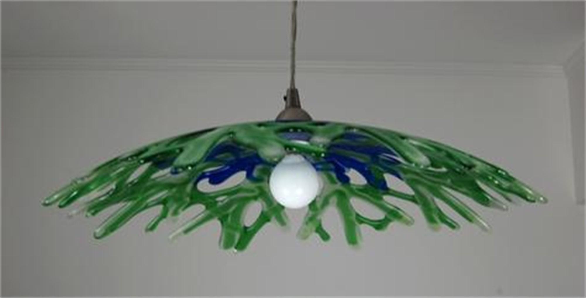 Sea Glass Pendant Light by Greg Rawls