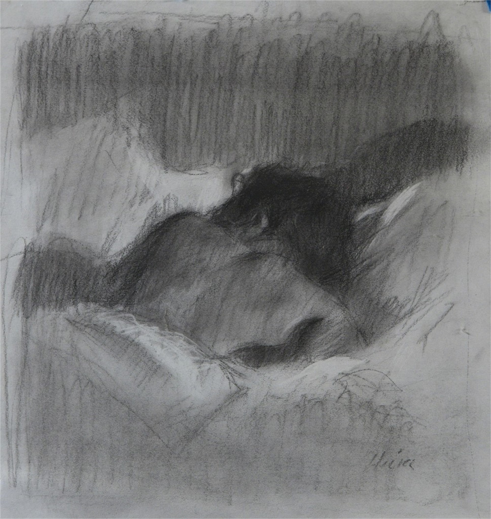 Sharon Sleeping by Ron Hicks